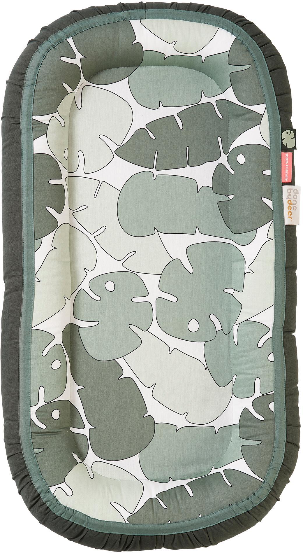 Gniazdo niemowlęce Tropics, Tapicerka: 100% bawełna, certyfikat , Zielony, S 50 x D 93 cm