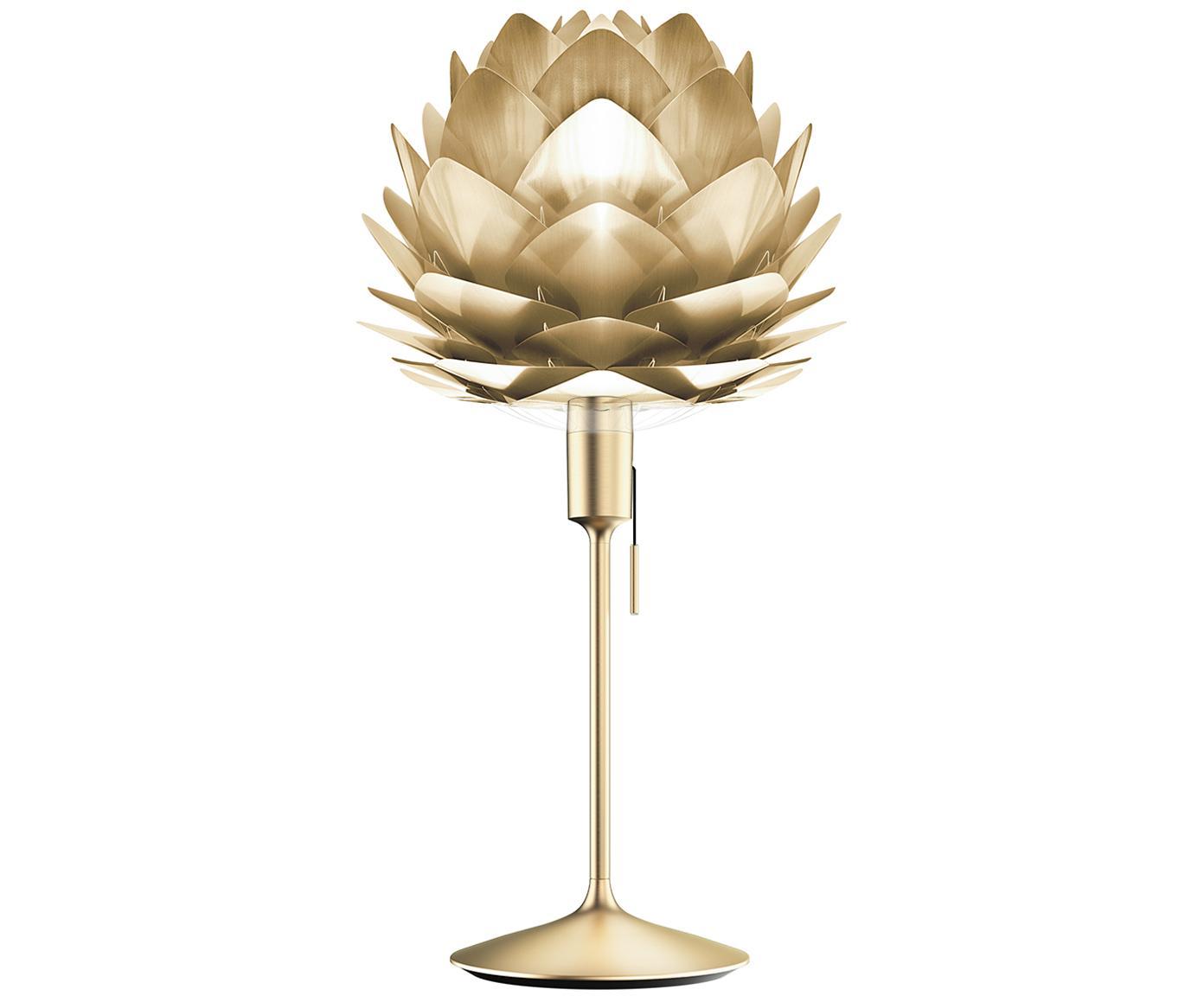 Duża lampa stołowa Silvia, Stelaż: stal, Odcienie mosiądzu, Ø 32 x W 67 cm