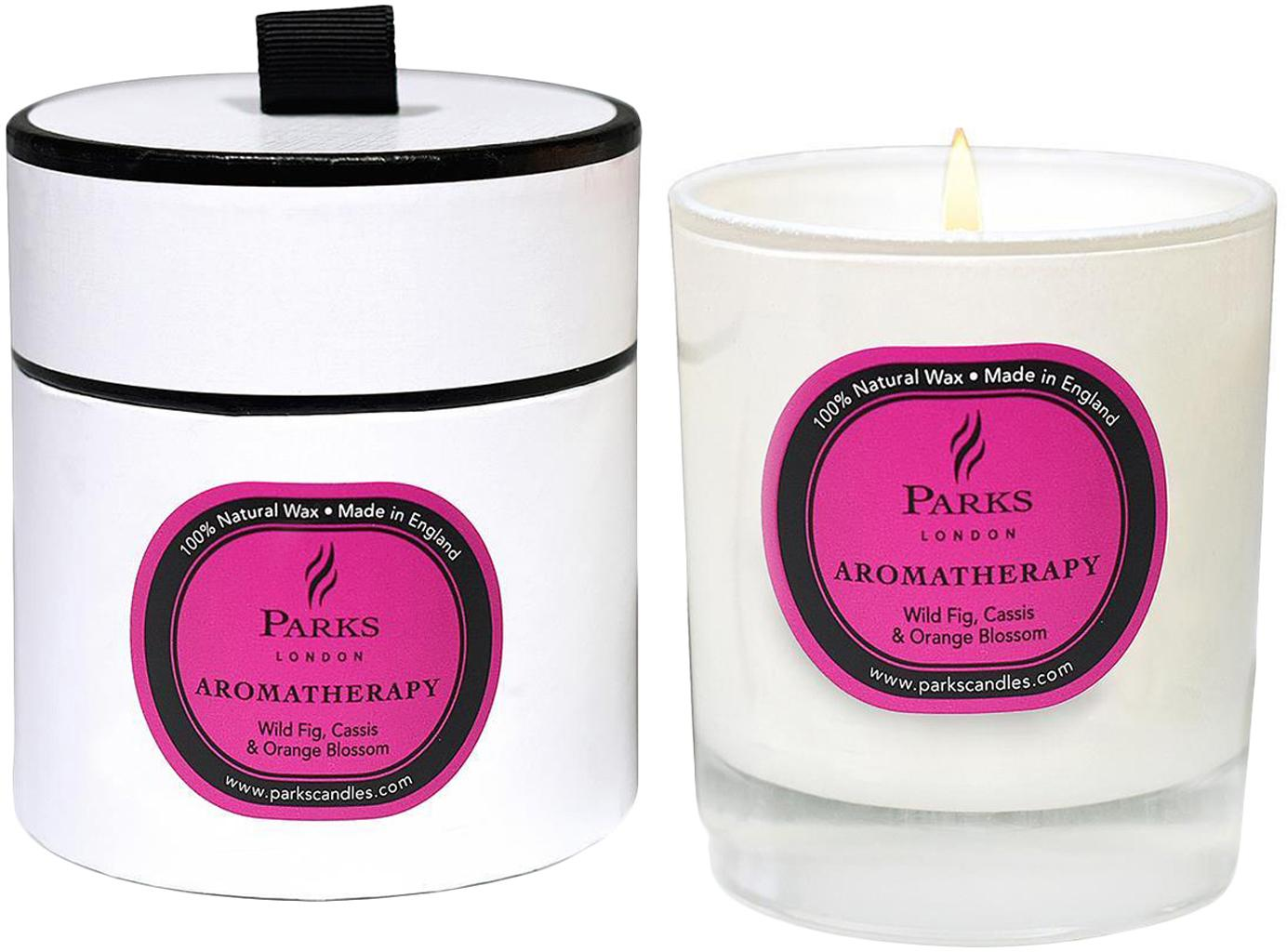 Świeca zapachowa Aromatherapy (figa, czarna porzeczka i pomarańcza), Transparentny, biały, różowy, Ø 8 x W 9 cm