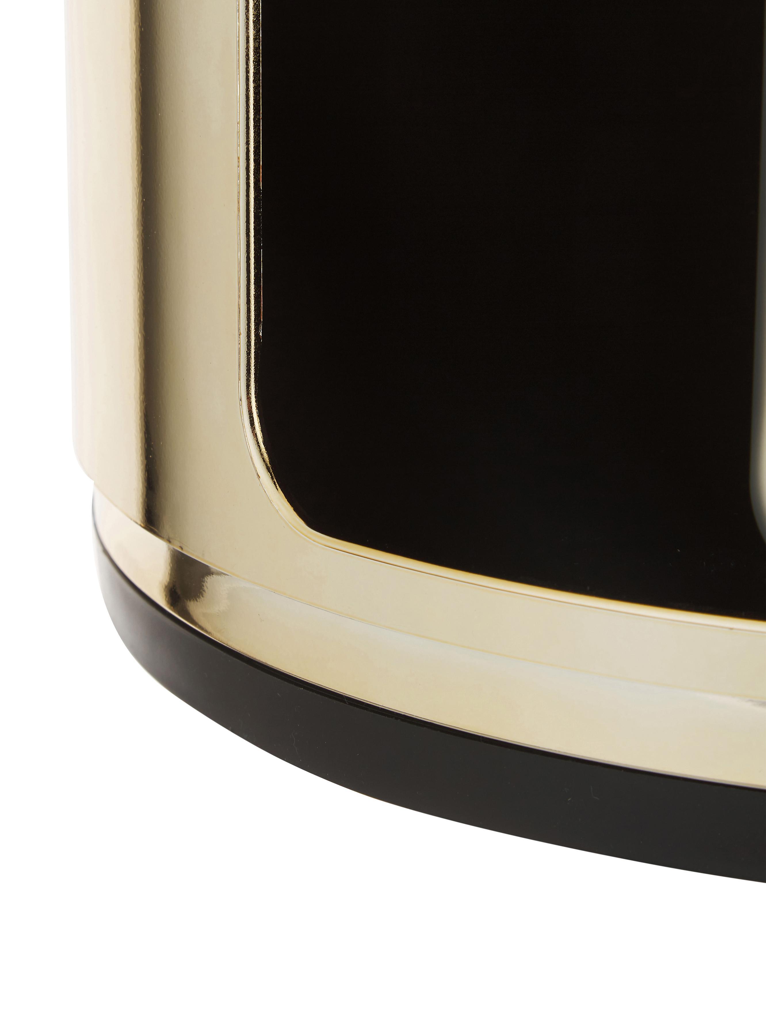 Design Container Componibile, Kunststoff, metallicbeschichtet, Goldfarben, Ø 32 x H 59 cm