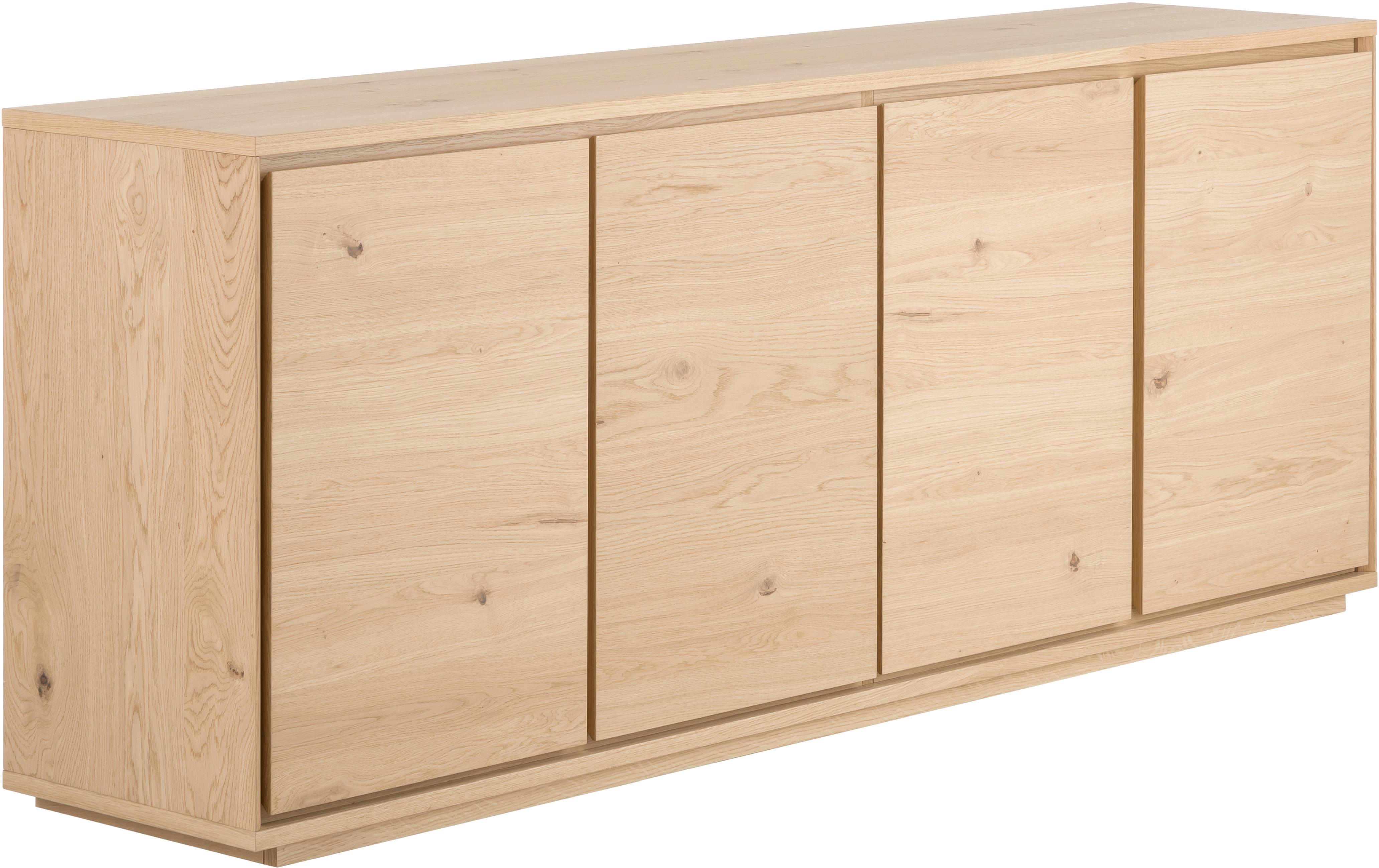 Sideboard Finn mit Eichenholzfurnier, Korpus: Mitteldichte Holzfaserpla, Eichenholz, 217 x 85 cm
