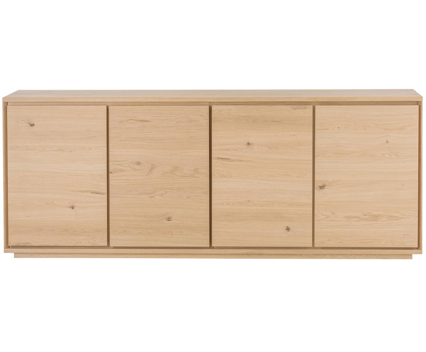 Komoda Finn, Korpus: płyta wiórowa, Drewno dębowe, S 217 x W 85 cm