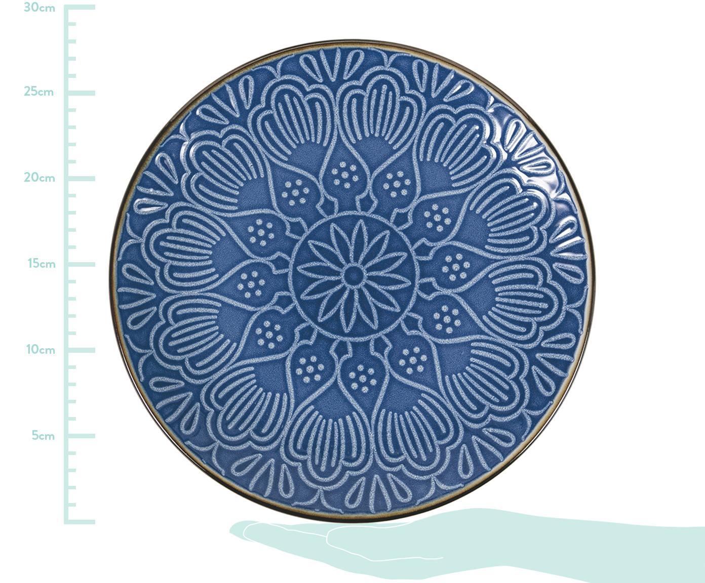 Komplet naczyń Baku, 18 elem., Dolomit, Niebieski, Różne rozmiary