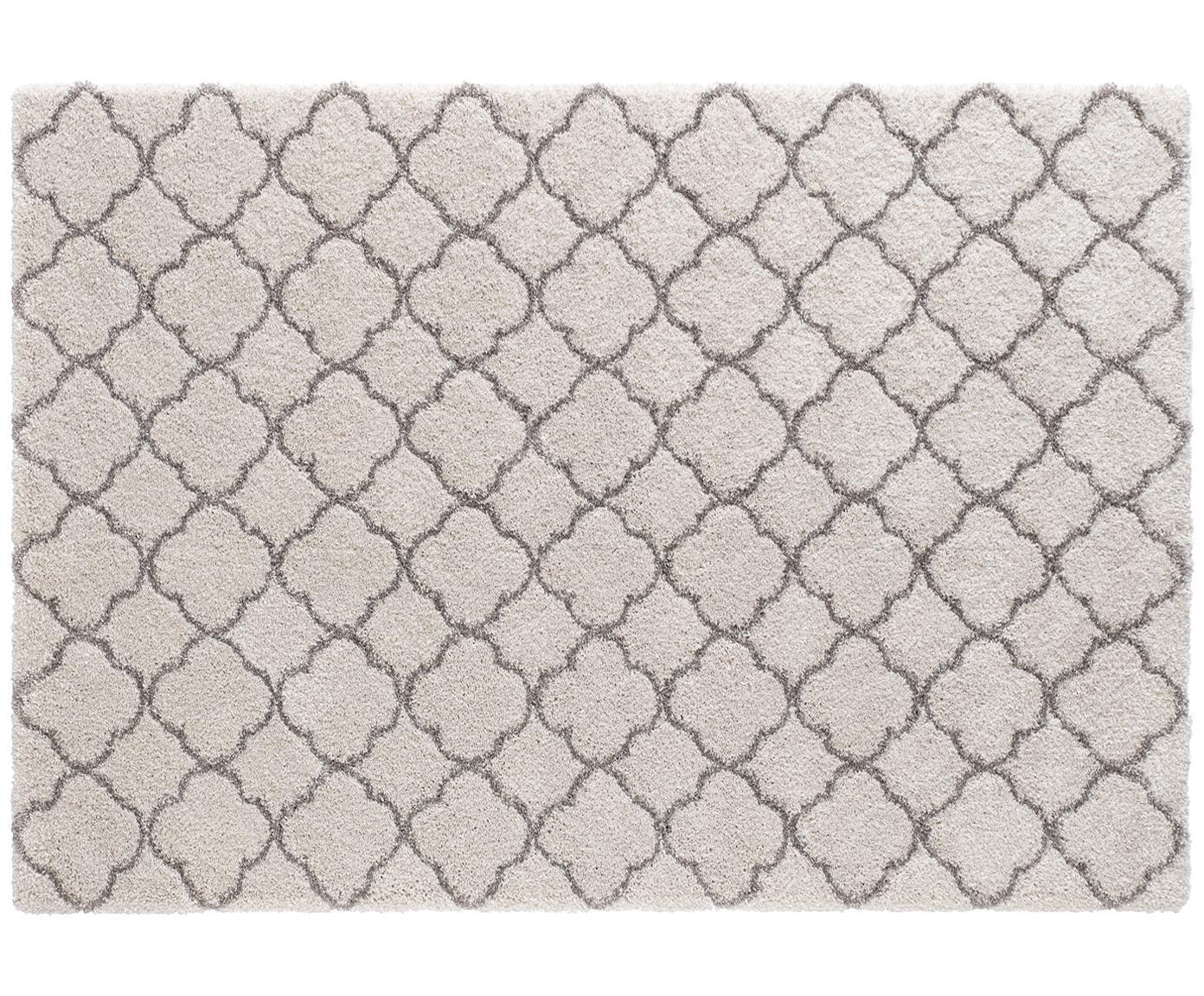 Hochflor-Teppich Grace in Creme/Grau, Flor: 100% Polypropylen, Creme, Grau, B 160 x L 230 cm (Grösse M)