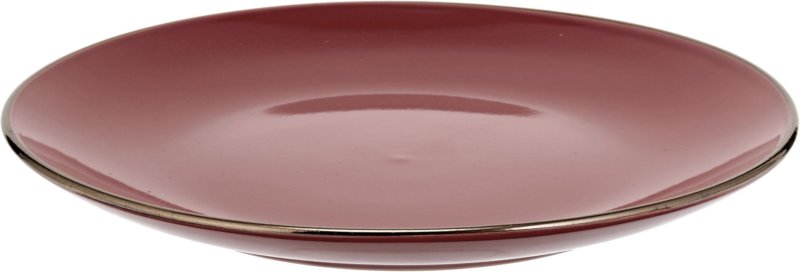 Service de table Royal Passion, 6personnes (18élém.), Bordeaux, pourpre, gris-bleu, rose, gris clair, gris foncé