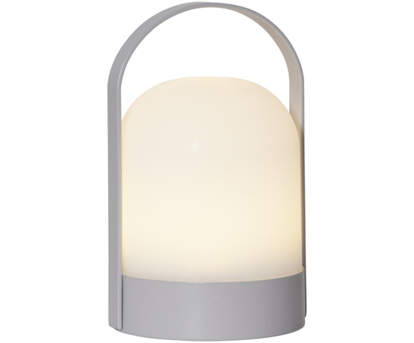 Lampada da tavolo Lette LED a batteria, Paralume: materiale sintetico, Bianco, grigio, Ø 14 x Alt. 22 cm