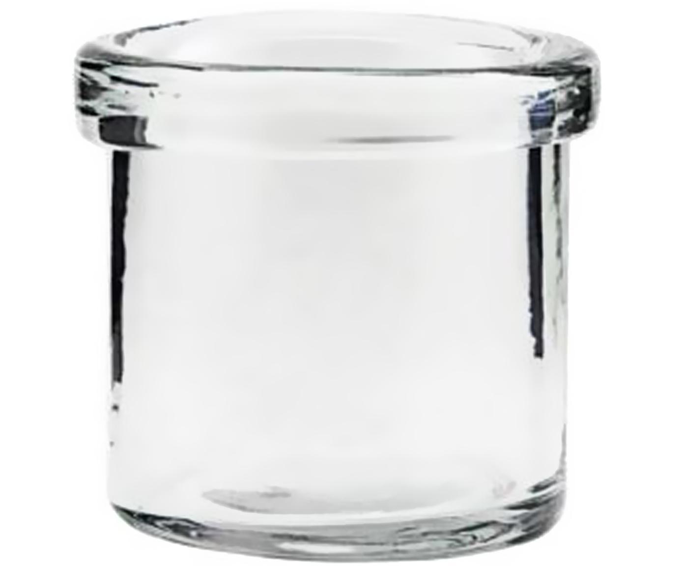 Kleine vaas Reem, Glas, Transparant, Ø 7 x H 7 cm