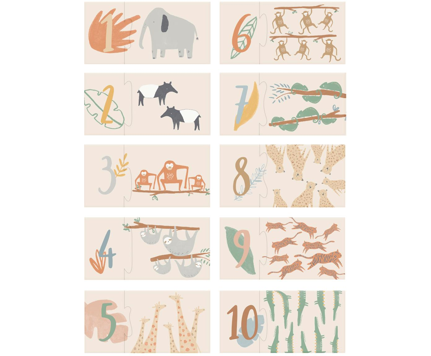 Puzzel Wildlife, Massief karton, Multicolour, 10 x 3 cm