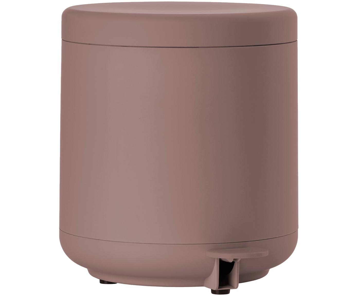 Abfalleimer Ume mit Pedal-Funktion, Kunststoff (ABS), Altrosa, matt, Ø 20 x H 22 cm