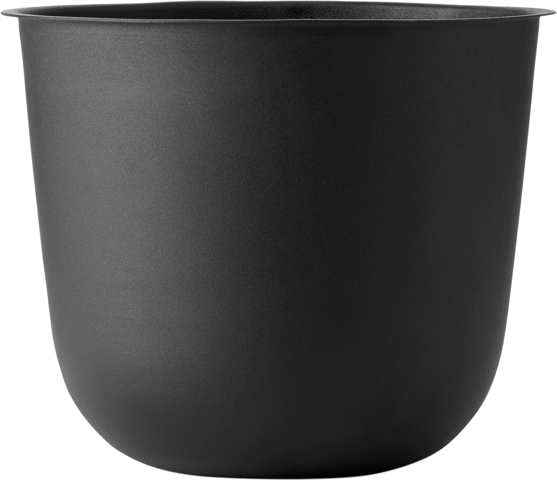 Pflanztopf Wire Pot, Stahl, pulverbeschichtet, Schwarz, Ø 23 x H 17 cm