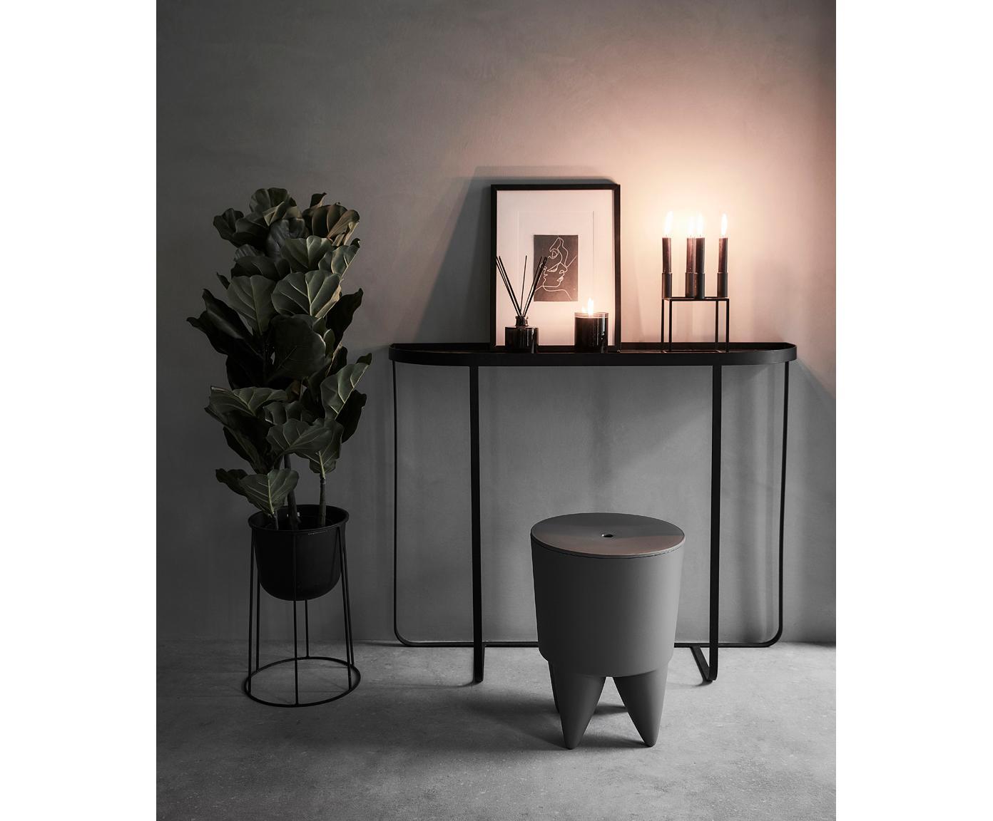 Donica Wire Pot, Stal malowana proszkowo, Czarny, Ø 23 x 17 cm