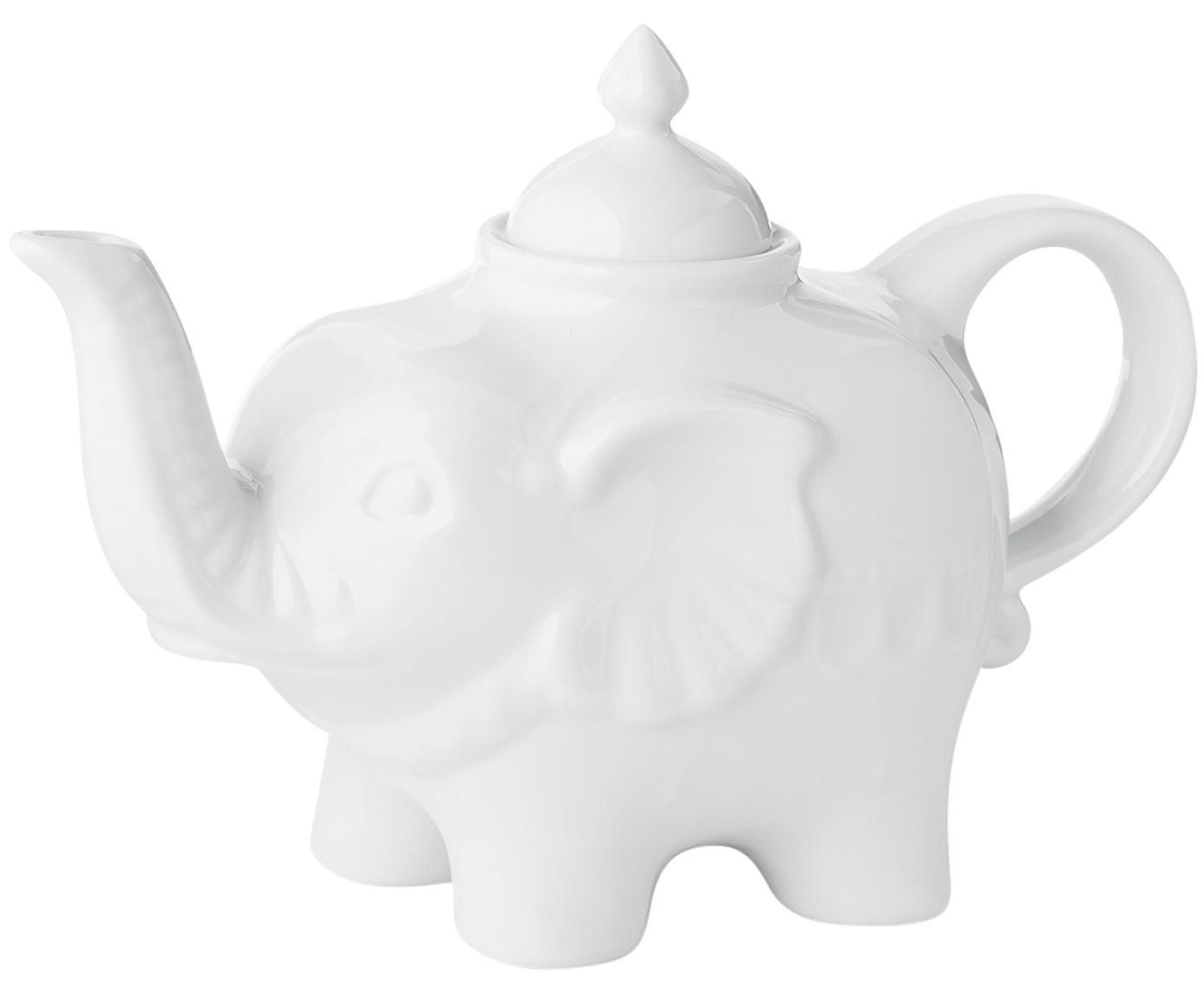 Tetera Elephant, Cerámica, Blanco, 900 ml