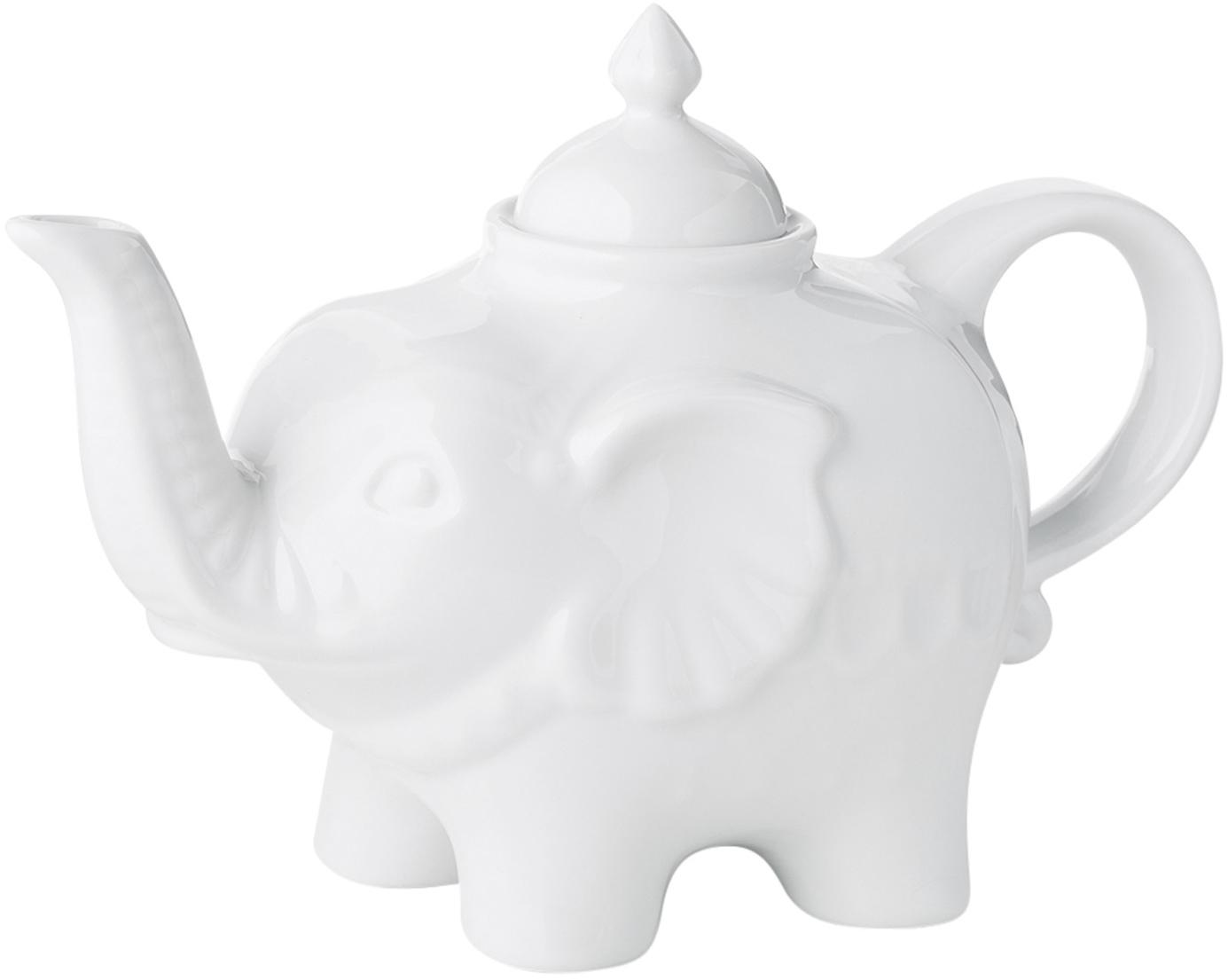 Teekanne Elephant, Keramik, Weiß, 900 ml