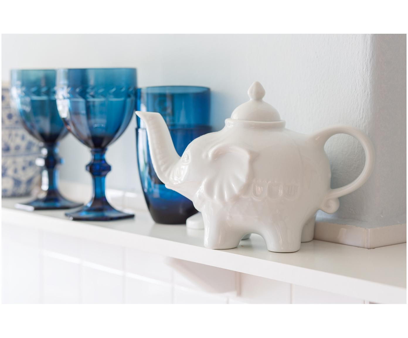 Theepot Elephant, Keramiek, Wit, 900 ml