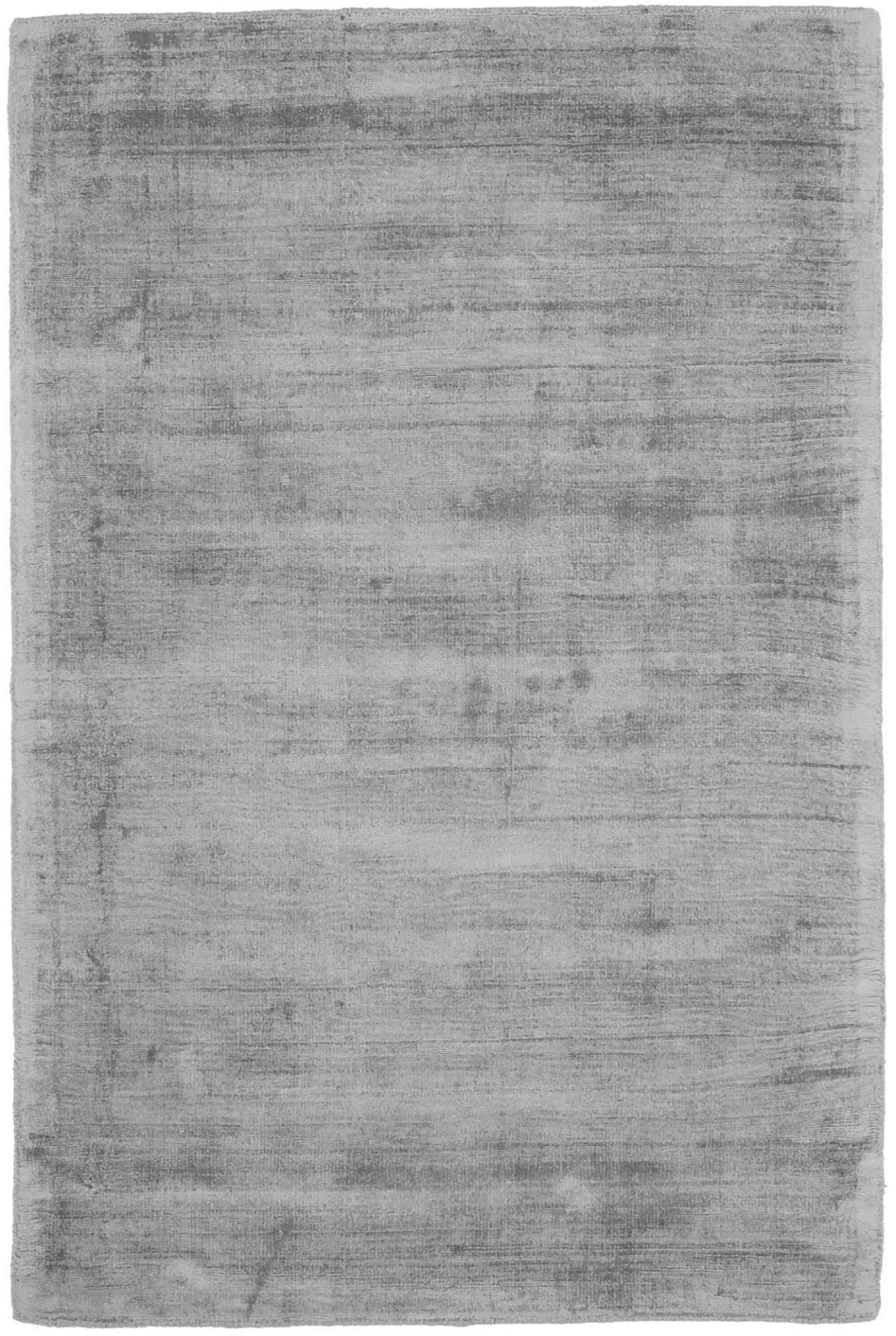 Handgewebter Viskoseteppich Jane in Grau, Flor: 100% Viskose, Grau, B 120 x L 180 cm (Größe S)