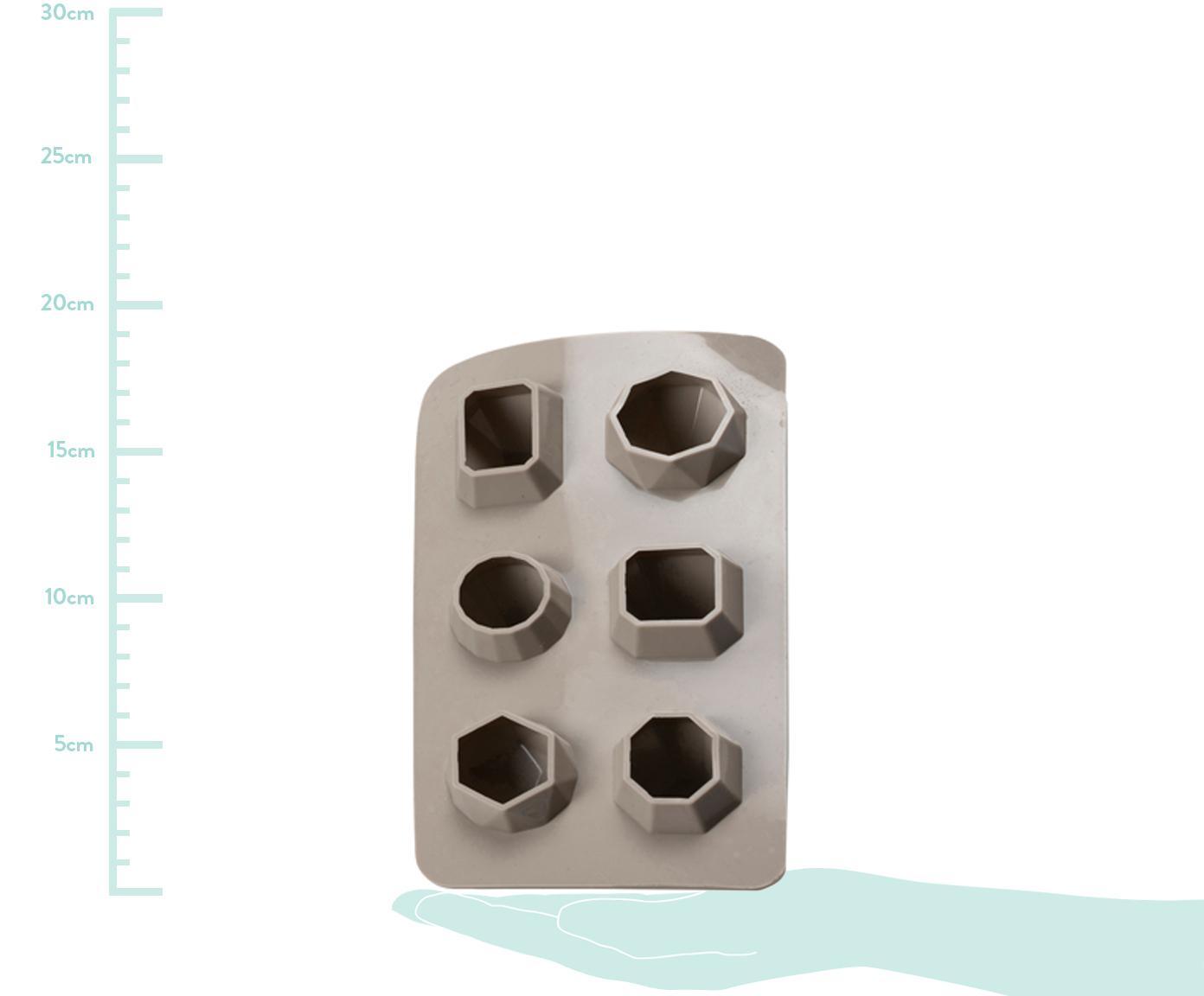Foremka do lodu Diamond, Silikon, Taupe, S 19 x W 3 cm