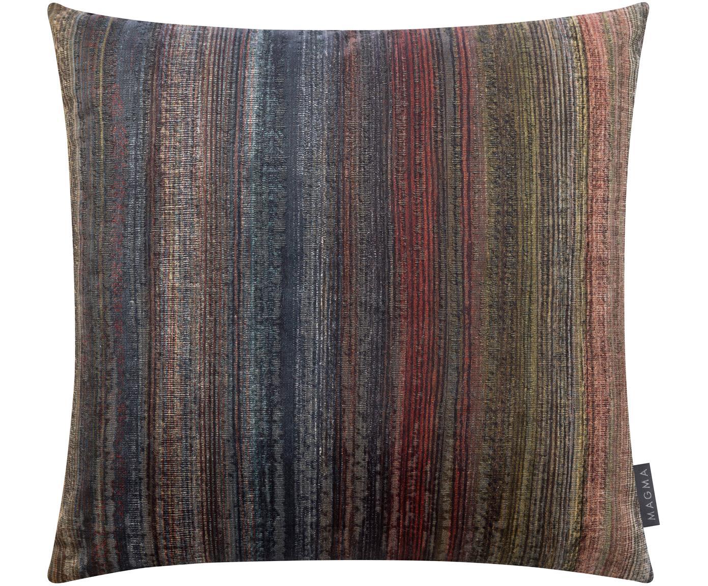 Samt-Kissenhülle Timon, Polyestersamt, Mehrfarbig, Petrolblau, 50 x 50 cm