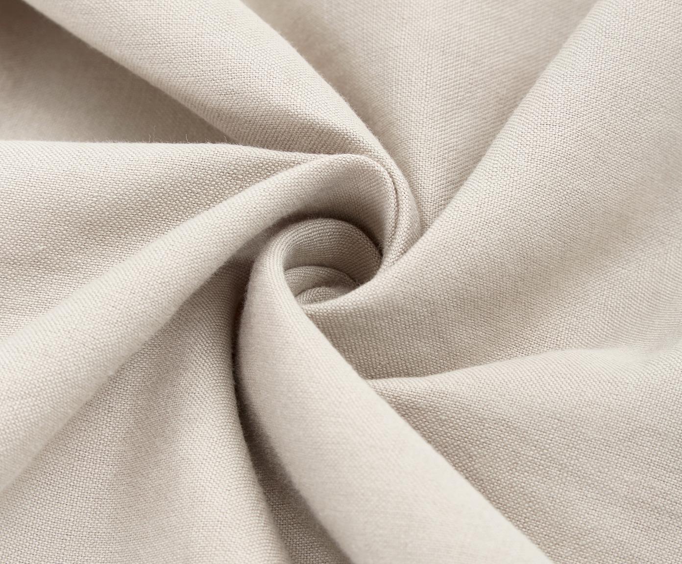 Pościel z lnu z efektem sprania Helena, Pół len (52% len, 48% bawełna) Z efektem stonewash zapewniającym miękkość w dotyku, Beżowy, 240 x 220 cm