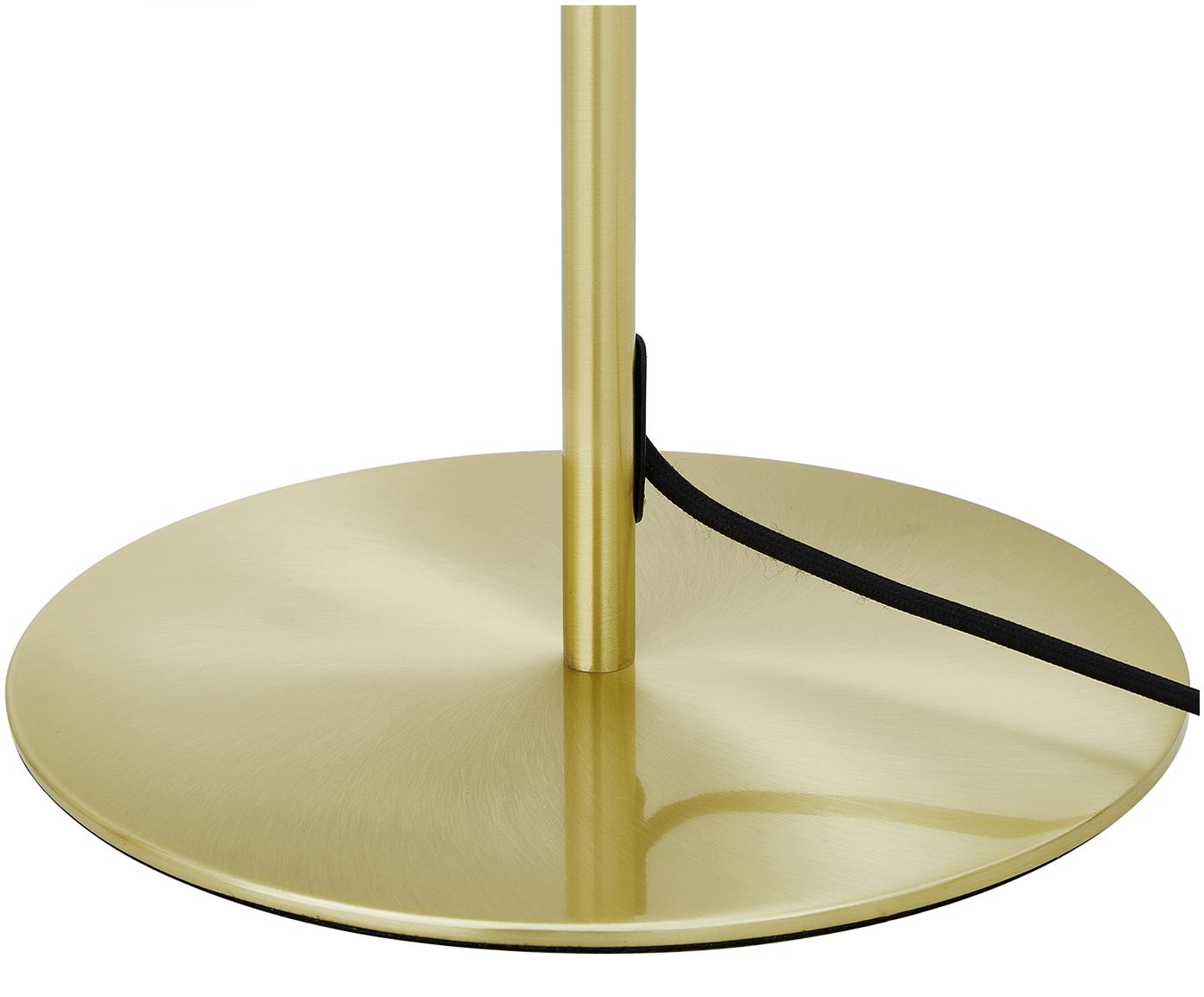 Lampa podłogowa Aurelia, Mosiądz, biały, Ø 25 x W 155 cm