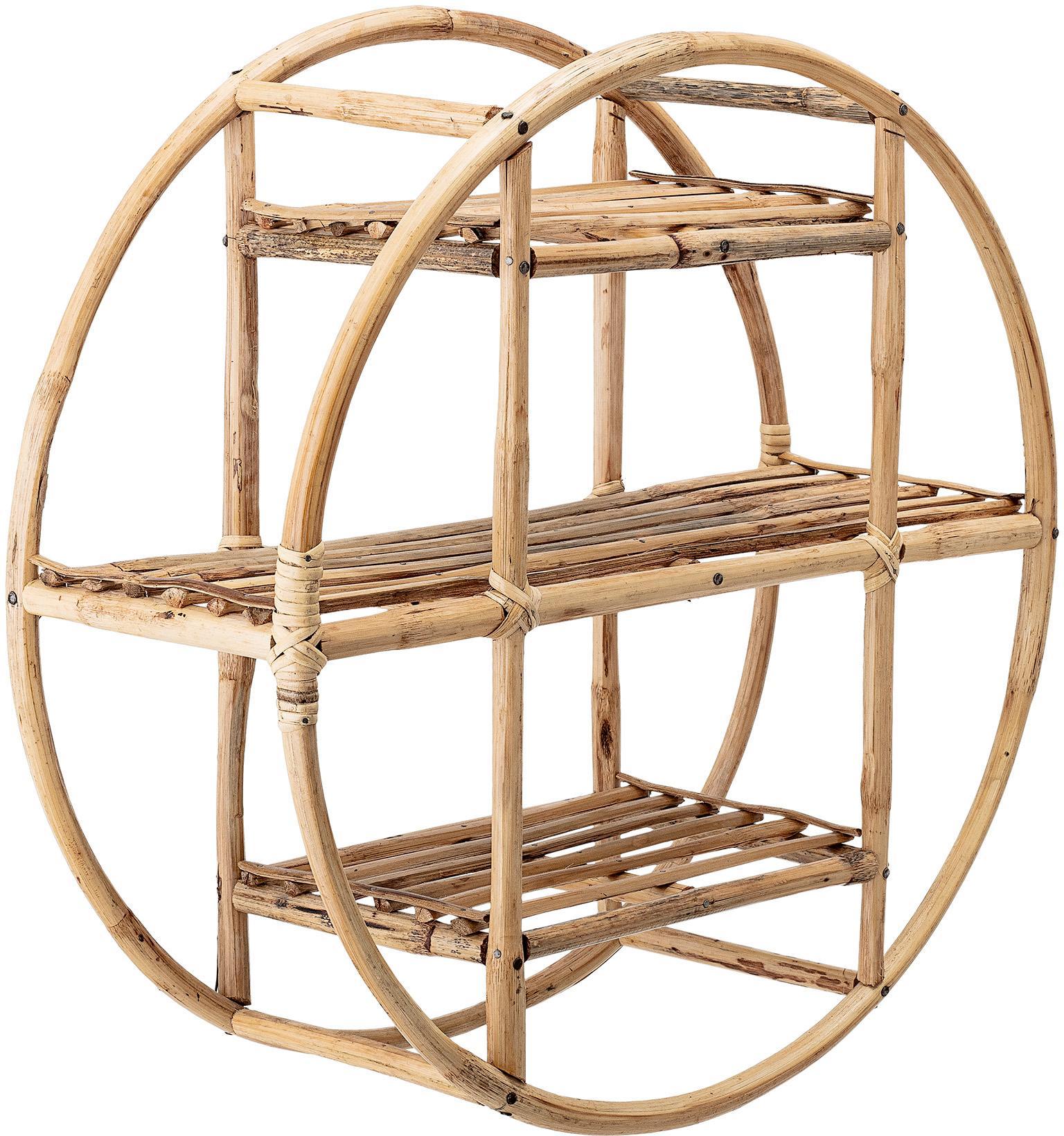 Ripiano a muro rotondo in bambù Sia, Canna, Marrone, Ø 52 x Prof. 20 cm