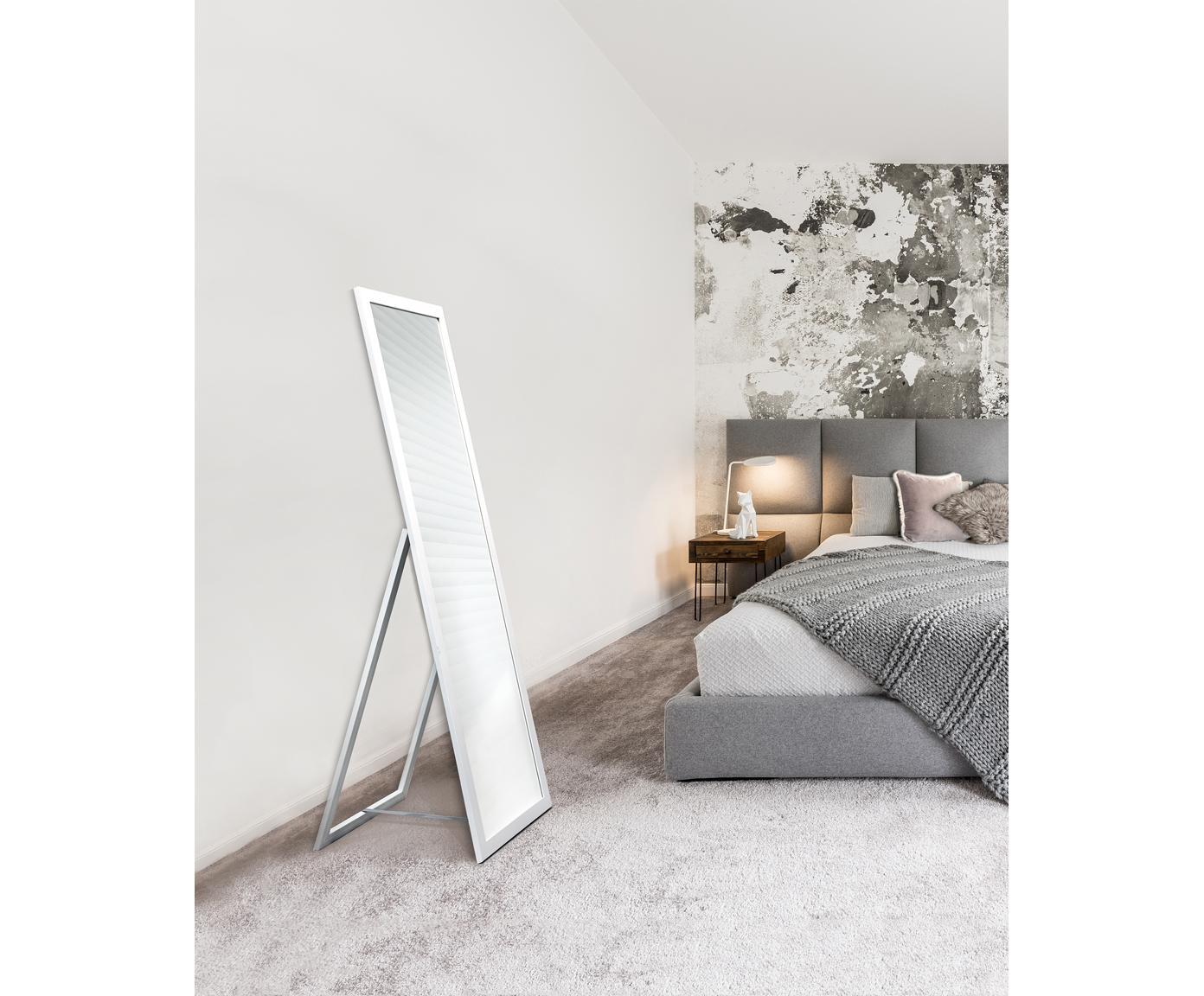 Lustro stojące Oslo, Biały, S 40 x W 160 cm