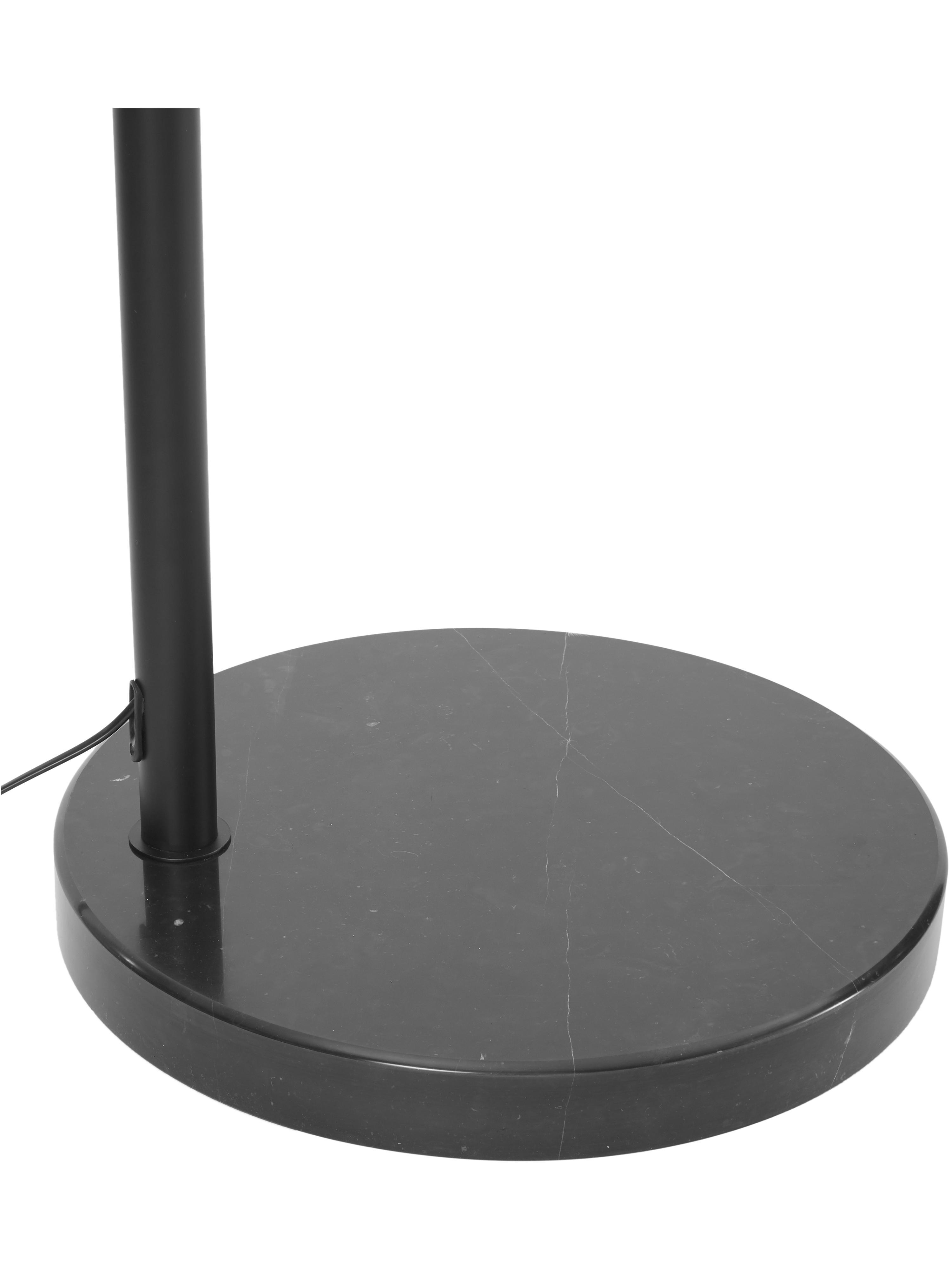 Bogenlampe Toronto mit Marmorfuß, Lampenschirm: Metall, pulverbeschichtet, Lampenfuß: Marmor, Gestell: Metall, pulverbeschichtet, Schwarz, 190 x 198 cm