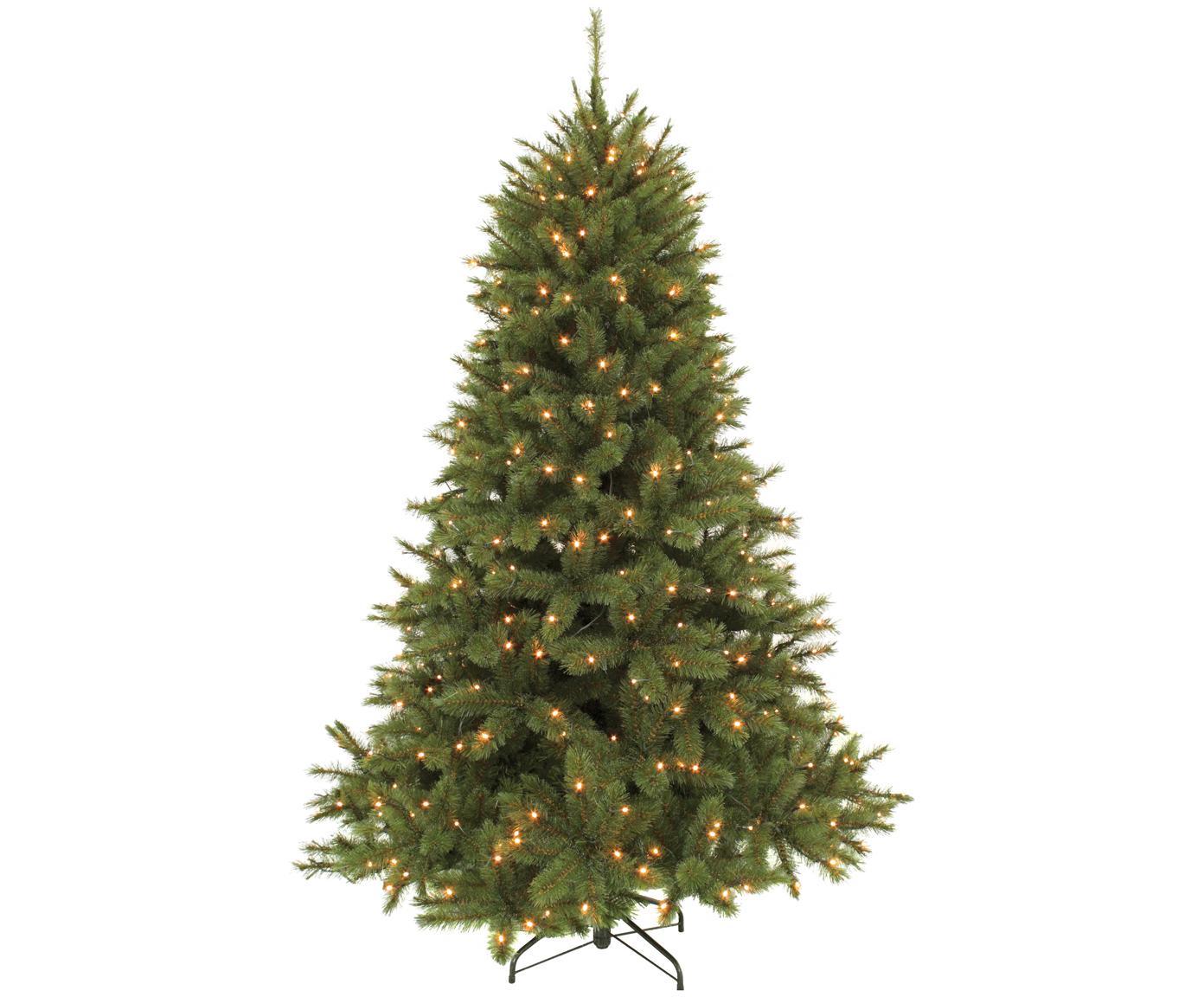 Decoratieve LED kerstboom Forest, Donkergroen, Ø 140 x H 215 cm