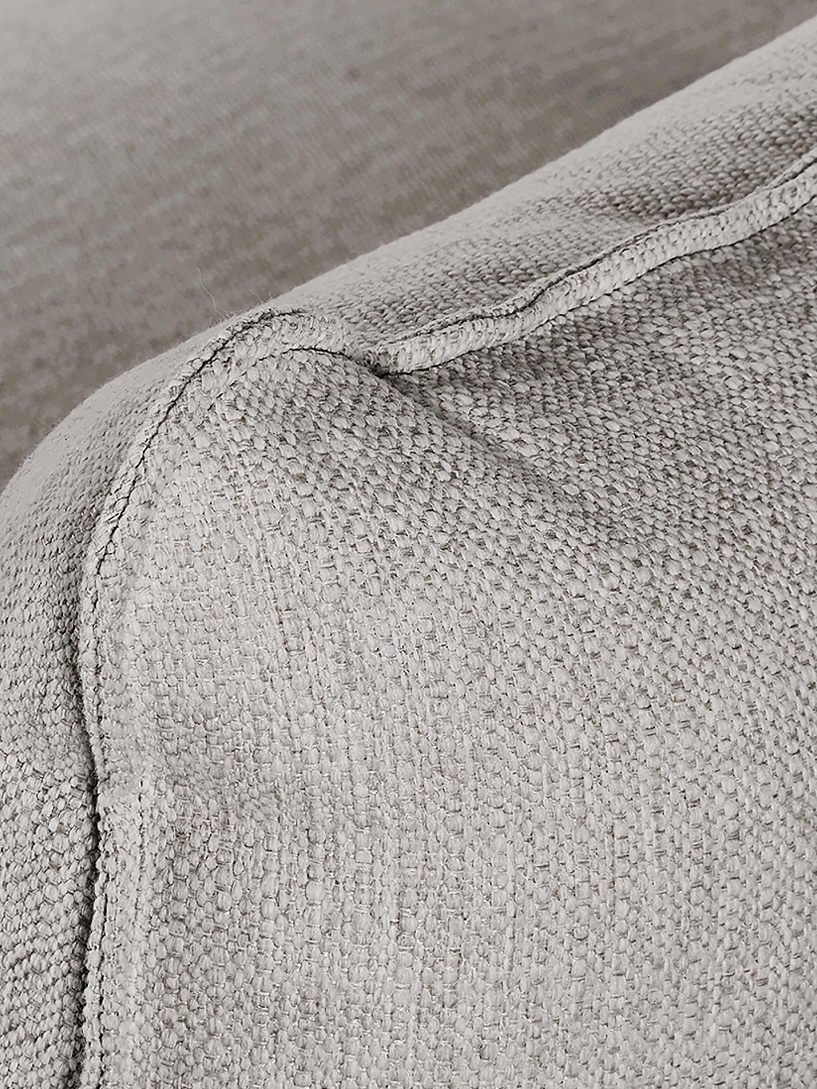 Divano angolare in tessuto grigio beige Tribeca, Rivestimento: poliestere 26.000 cicli d, Seduta: imbottitura in schiuma, m, Struttura: legno di pino massiccio, Piedini: legno di pino massiccio, , Tessuto grigio beige, Larg. 315 x Prof. 228 cm
