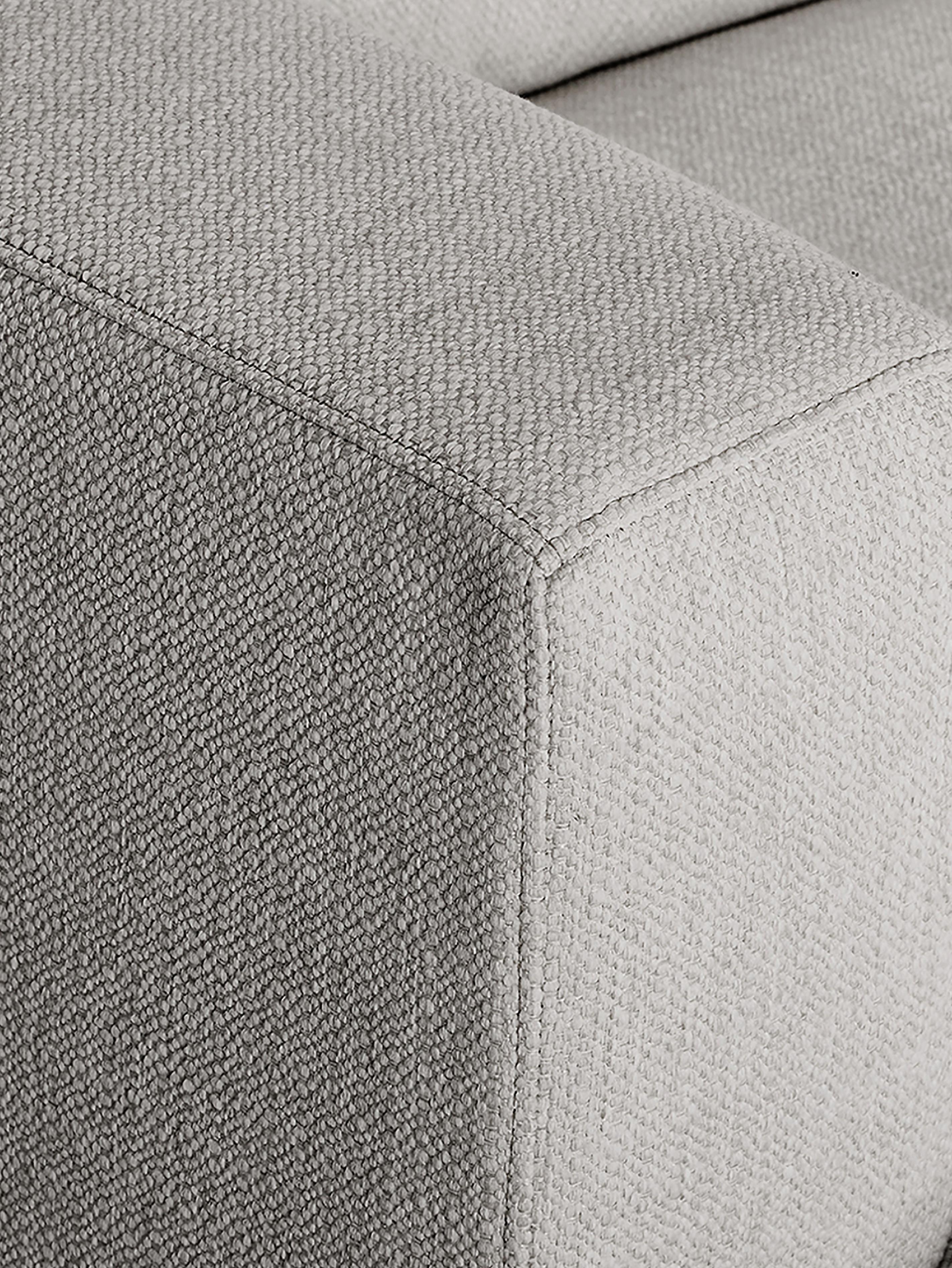 Großes Ecksofa Tribeca, Bezug: Polyester Der hochwertige, Gestell: Massives Kiefernholz, Füße: Massives Buchenholz, lack, Webstoff Beigegrau, B 315 x T 228 cm