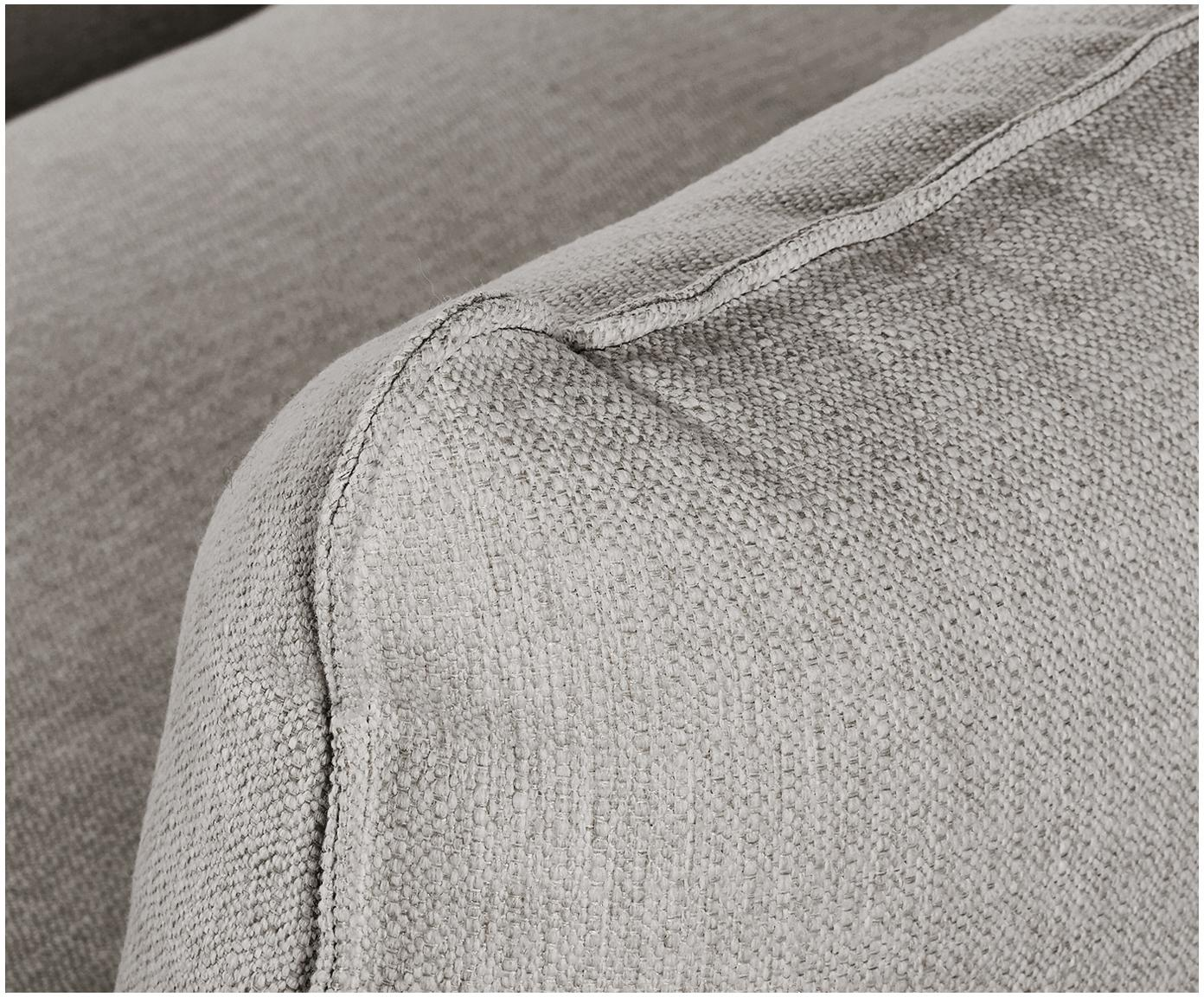 Duża sofa narożna Tribeca, Tapicerka: poliester Tkanina o odpor, Stelaż: lite drewno sosnowe, Nogi: lite drewno sosnowe, laki, Beżowoszary, S 274 x G 192 cm