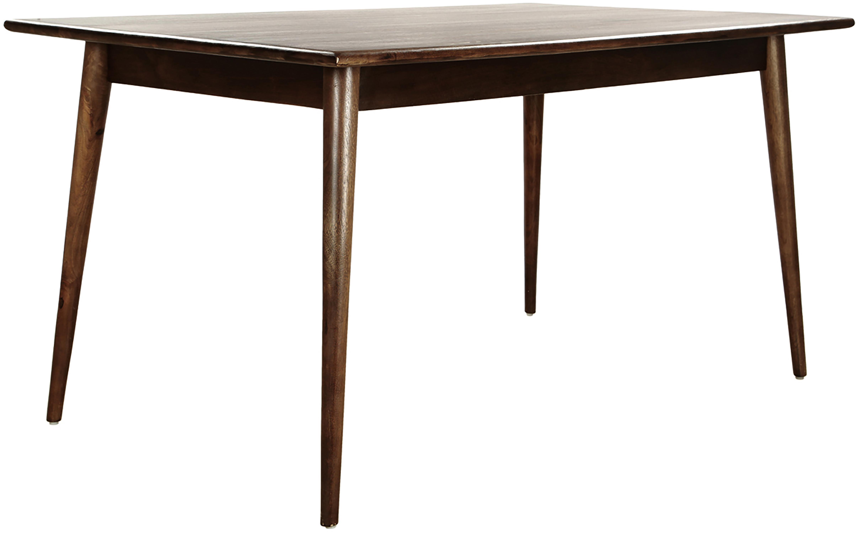 Stół do jadalni z litego drewna Oscar, Masywne drewno mangowe, lakierowane, Ciemnybrązowy, S 150 x G 90 cm