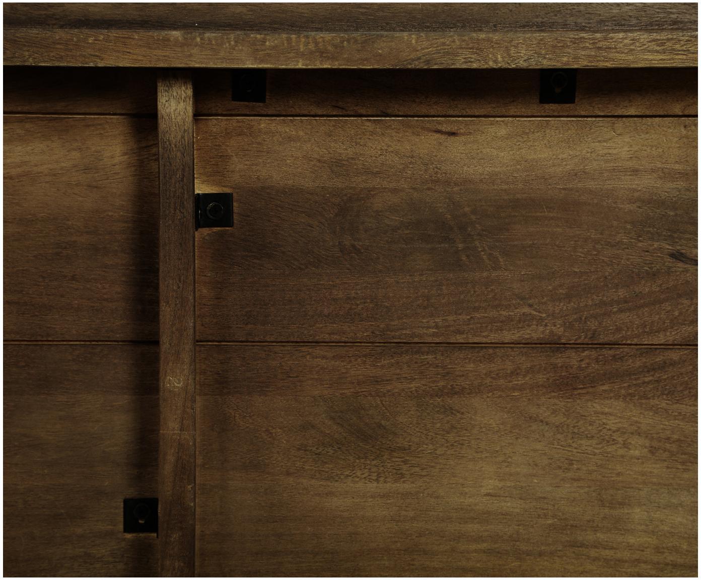 Massief houten eettafel Oscar, Gelakt massief mangohout, Donkerbruin, B 150 x D 90 cm