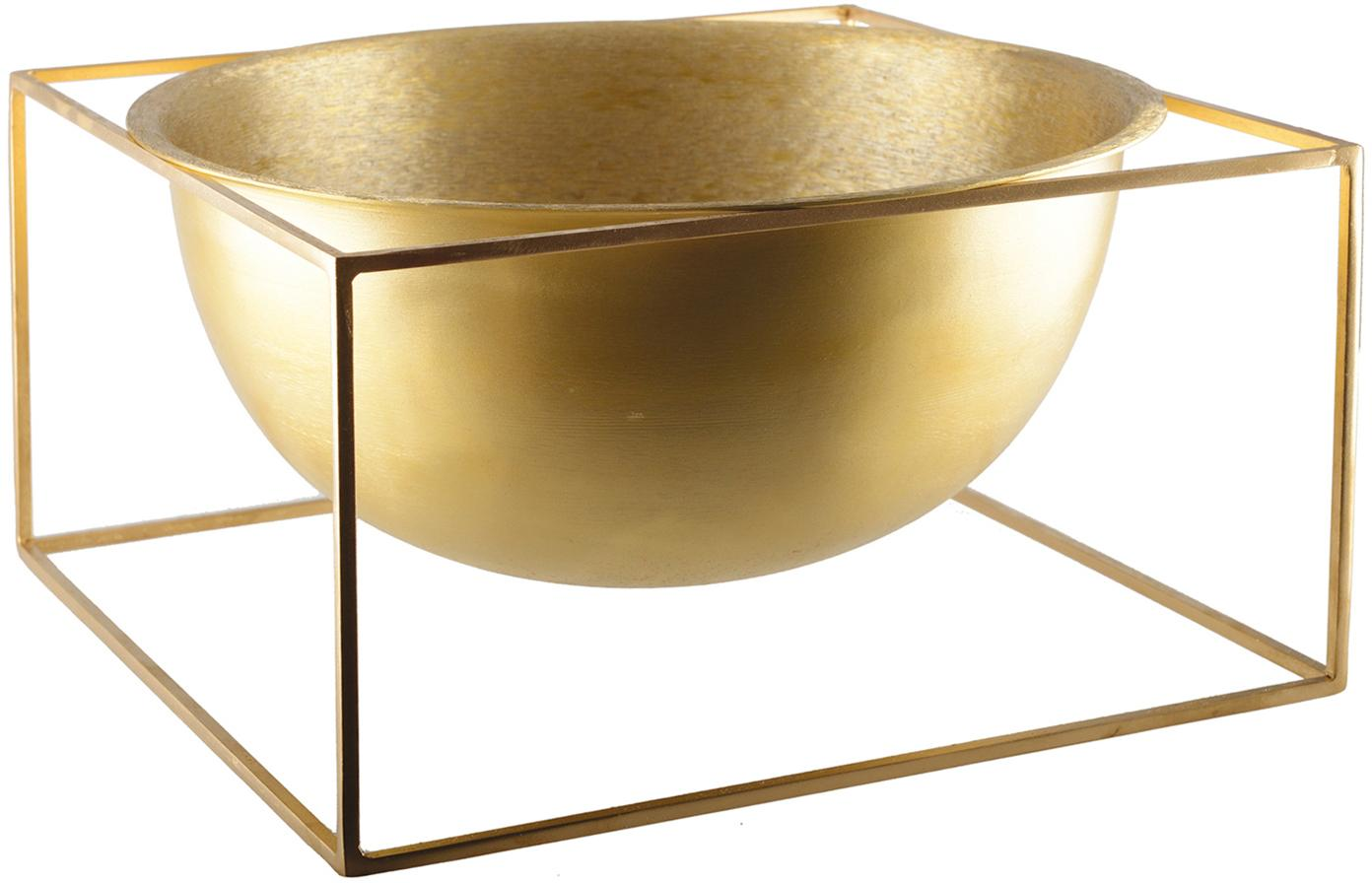 Ciotola decorativa dorata Shadon, Alluminio rivestito, Dorato, Larg. 32 x Alt. 17 cm