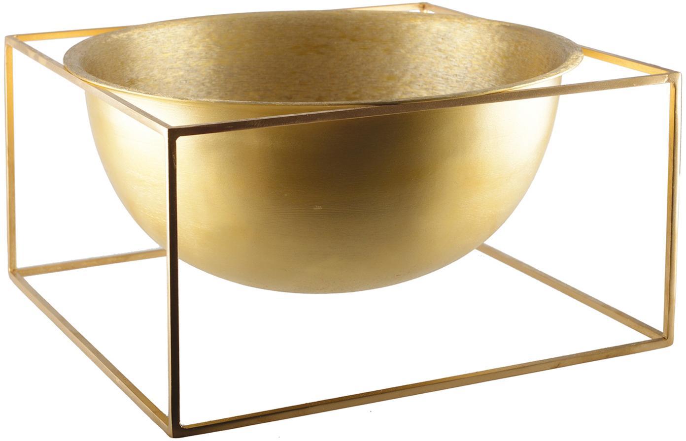 Miska dekoracyjna Shadon, Aluminium powlekane, Odcienie złotego, S 32 x W 17 cm