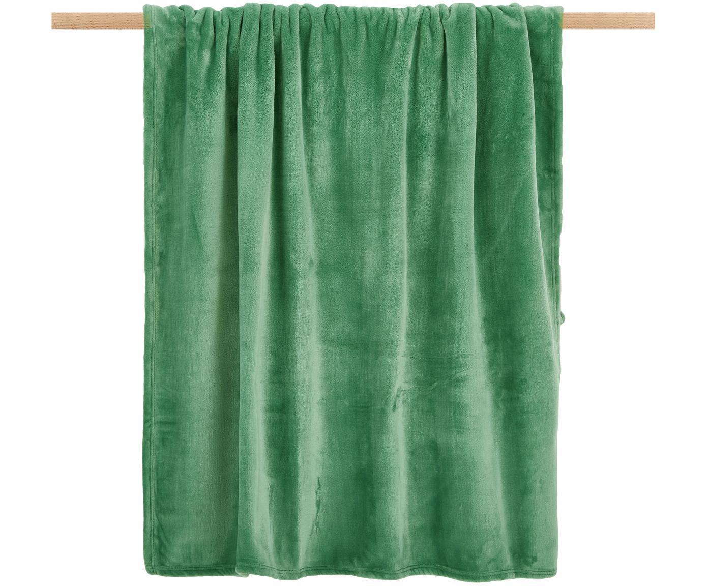 Manta de tela polar Doudou, 100%poliéster, Verde menta, An 130 x L 160 cm