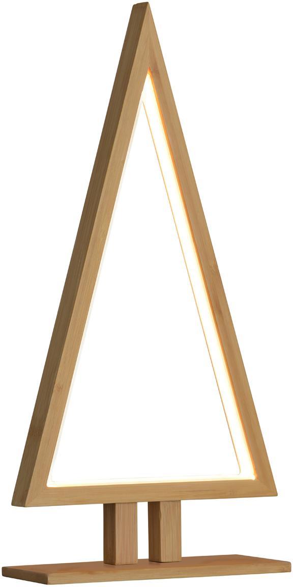 Pieza luminosa LED Pine, Bambú, An 20 x Al 38 cm