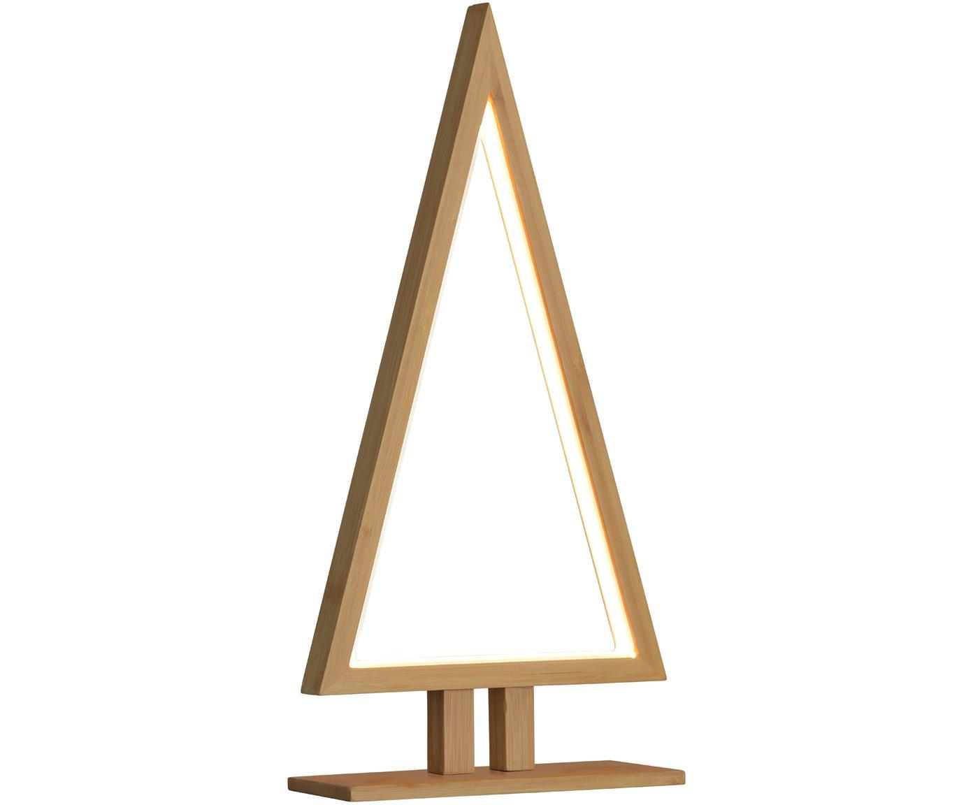 Pino decorativo in legno illuminato a LED Pine, Legno di bambù, Larg. 20 x Alt. 38 cm