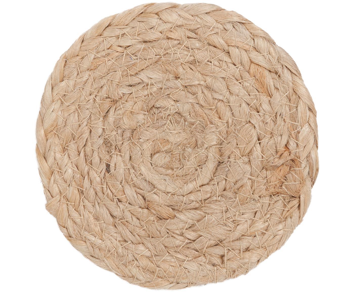 Posavasos Ural, 6uds., Yute, Yute, Ø 10 cm