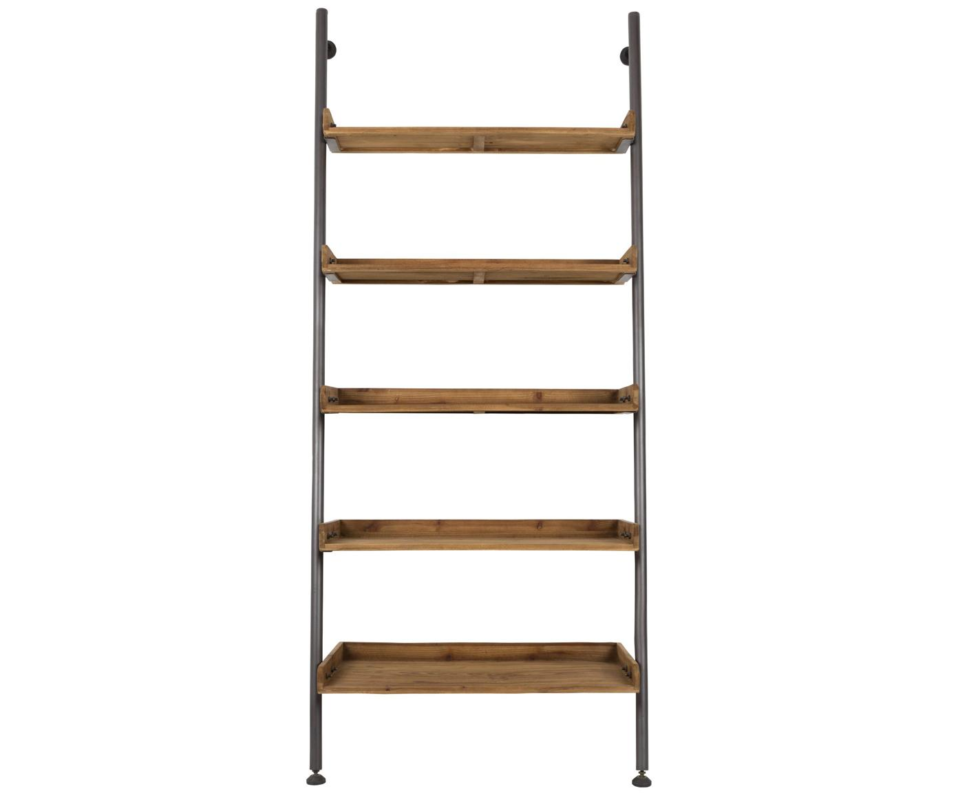 Ladder wandrek Wally in vintage design, Frame: gepoedercoat metaal, Bruin, 86 x 200 cm