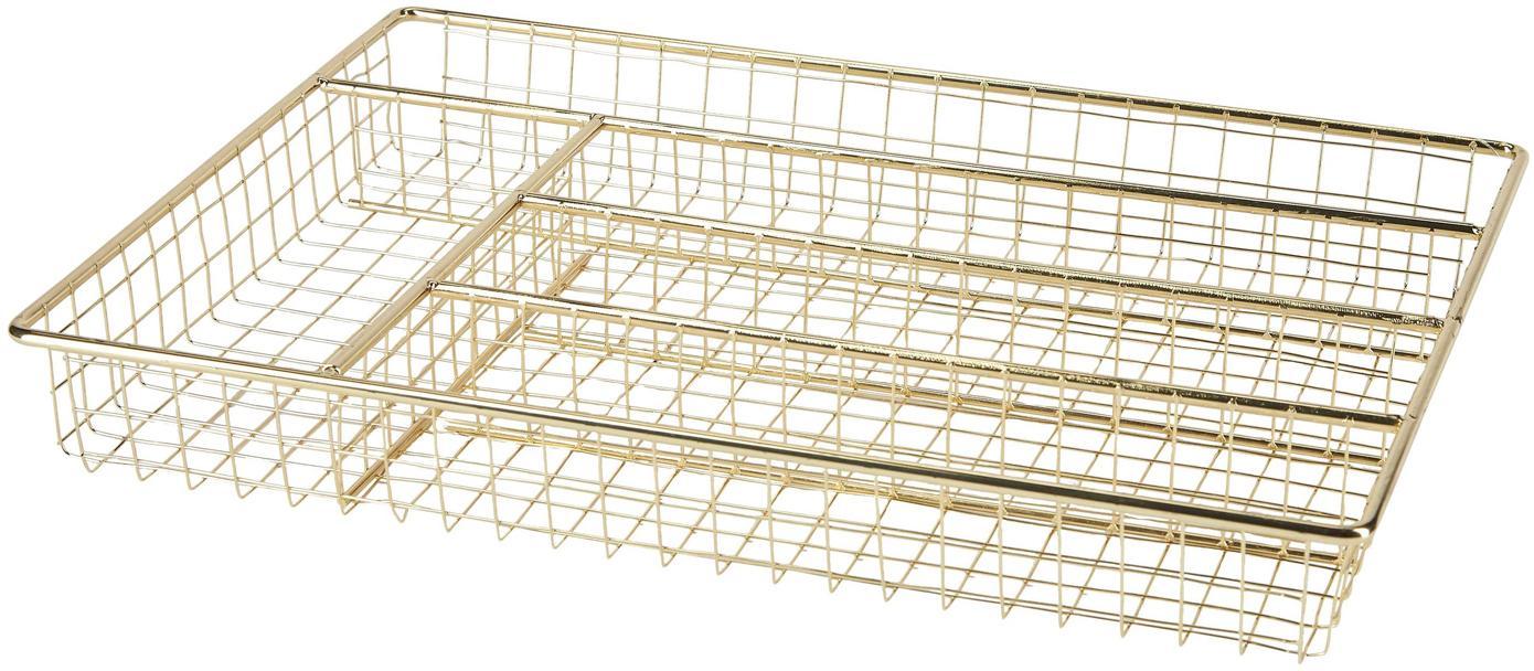 Organizador de cubiertos Amo, Metal recubierto, Latón, An 36 x F 26 cm