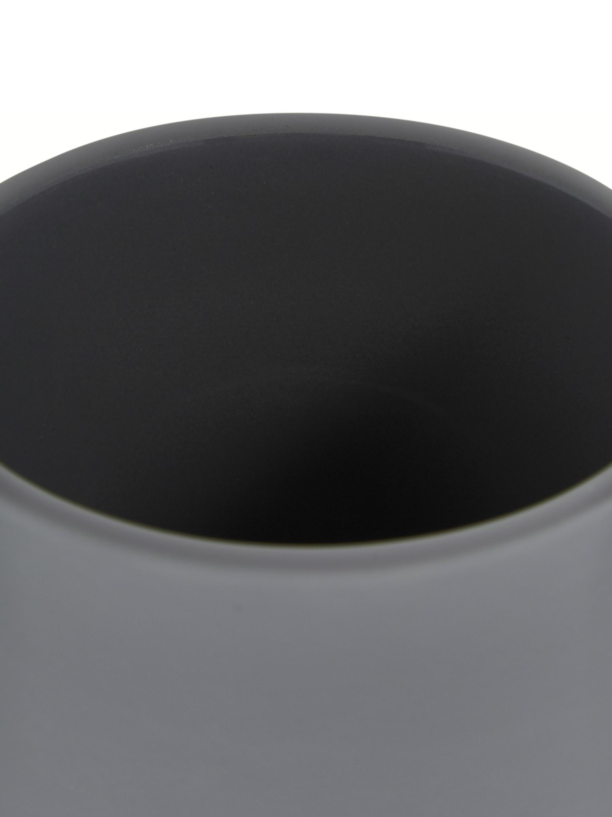 Zeepdispenser Push, Houder: steengoed, Matgrijs, Ø 8 x H 12 cm