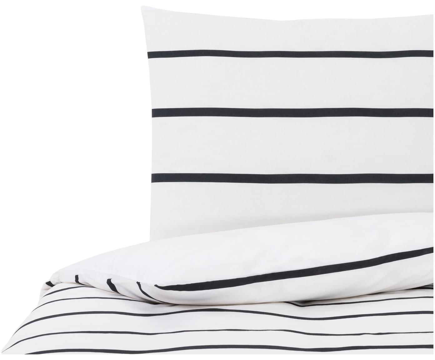 Dubbelzijdig beddengoed Blush, Katoen, Wit, zwart, roze, 140 x 200 cm