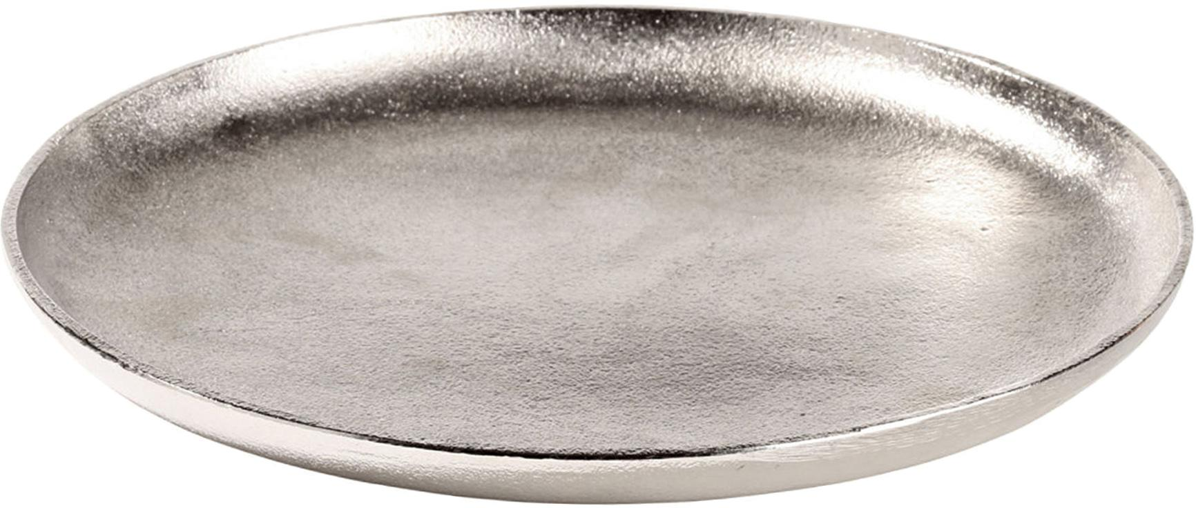Bandeja decorativa Bintel, Aluminio, Plateado, Ø 35 cm