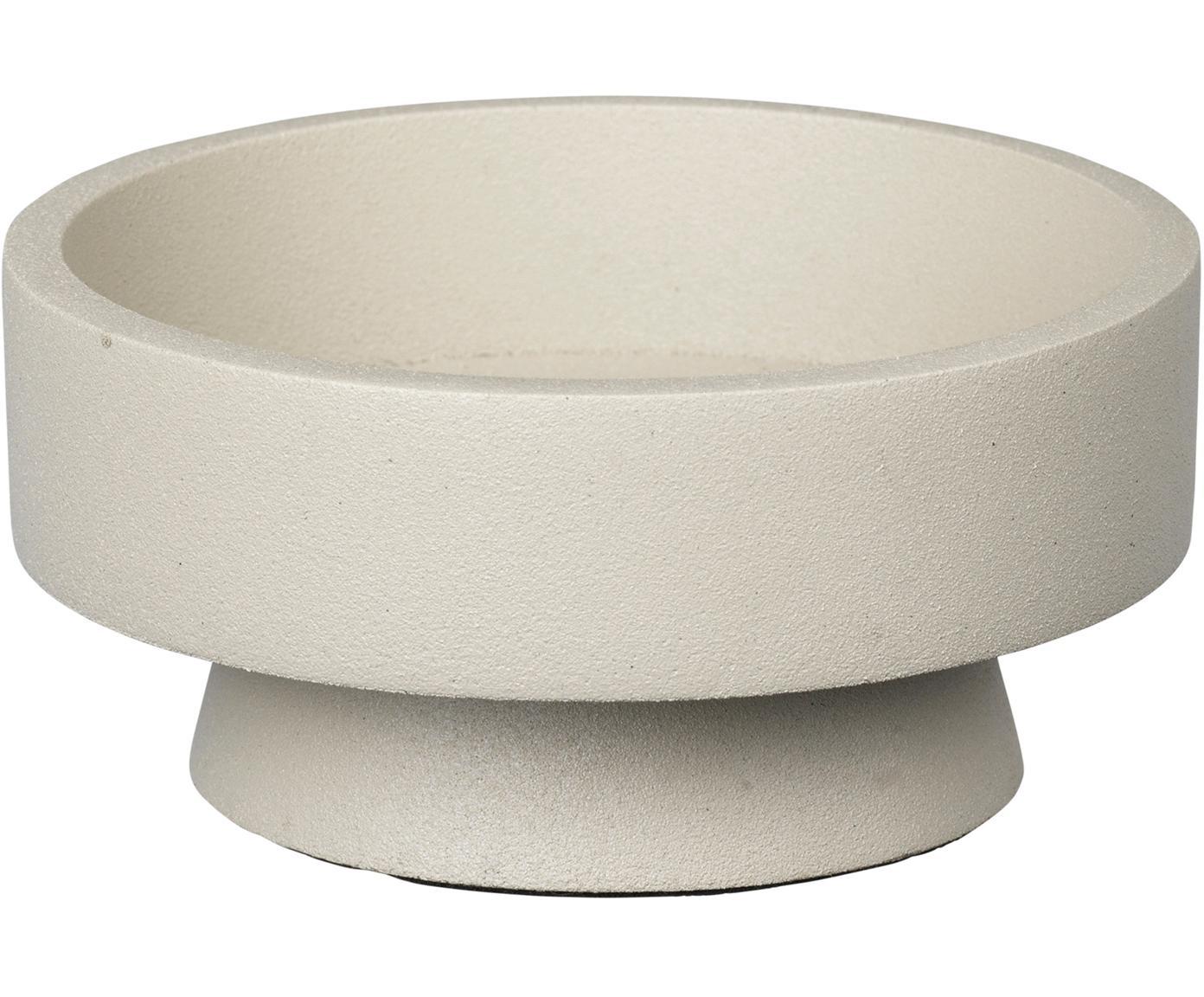 Kerzenhalter Anker, Aluminium, beschichtet, Beige, Ø 10 x H 4 cm