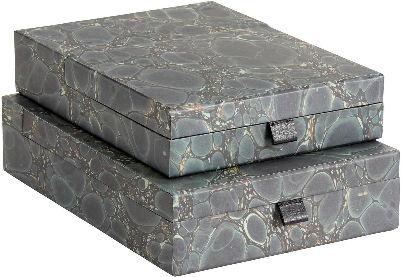 Set organizador de escritorio Mosaic, 2pzas., Asas: cuero sintético, Verde, Set de diferentes tamaños