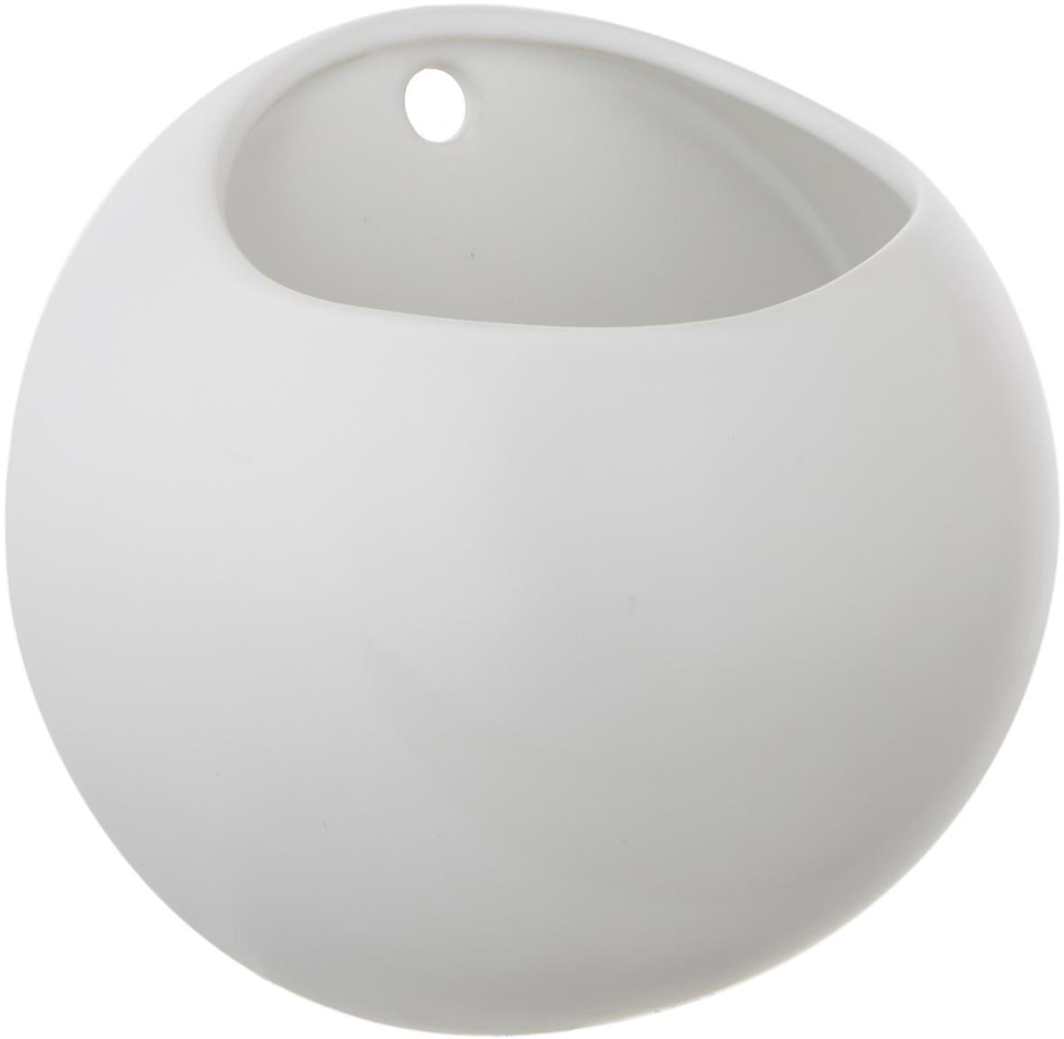 Portavaso da parete in ceramica Globe, Ceramica, Bianco, Ø 15 x Alt. 10 cm