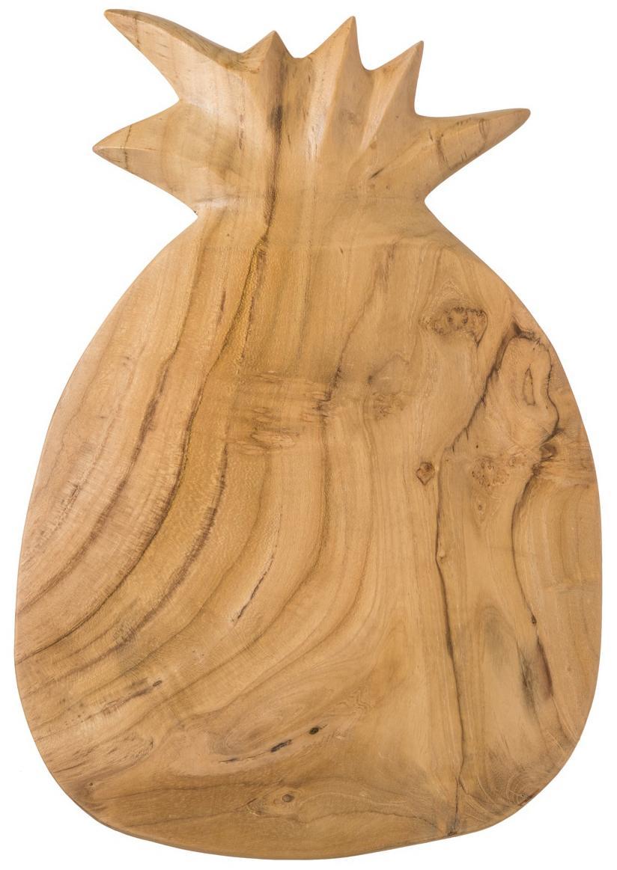 Schneidebrett Pine aus Teakholz, Teakholz, Teakholz, B 23 x T 35 cm