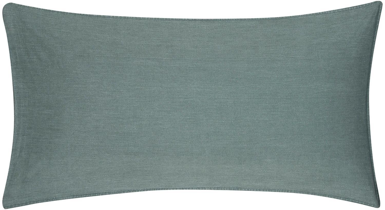 Gewaschene Baumwoll-Kissenbezüge Arlene in Dunkelgrün, 2 Stück, Webart: Renforcé Fadendichte 144 , Dunkelgrün, 40 x 80 cm