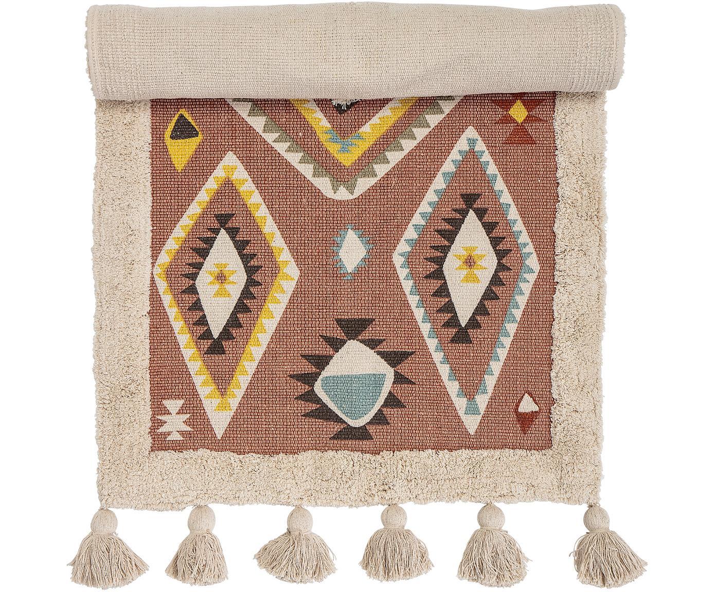 Tappeto in cotone Boho, Cotone, Multicolore, Larg. 65 x Lung. 120 cm (taglia XS)