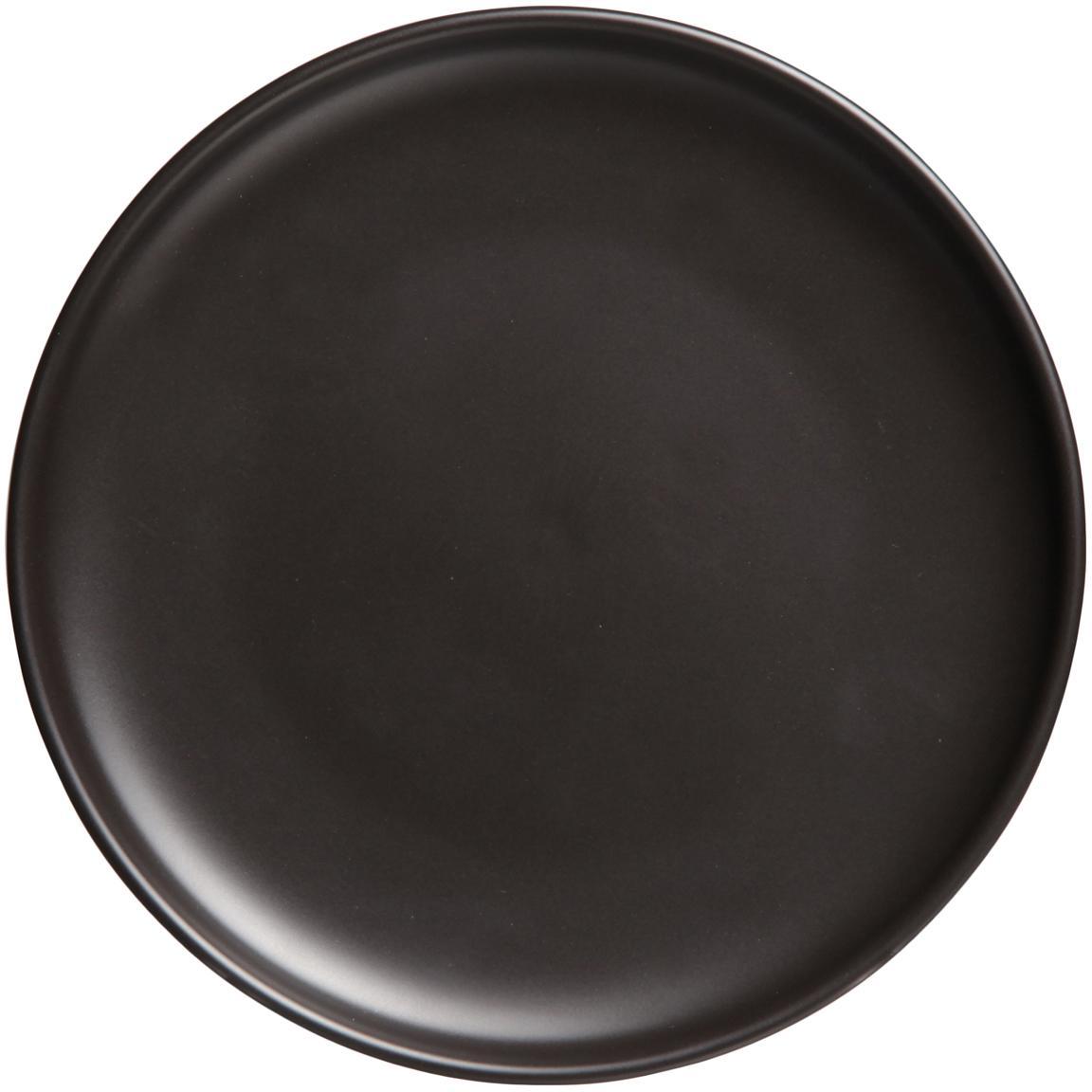 Piattino da dessert nero opaco Okinawa 6 pz, Ceramica, Nero opaco, Ø 20 cm